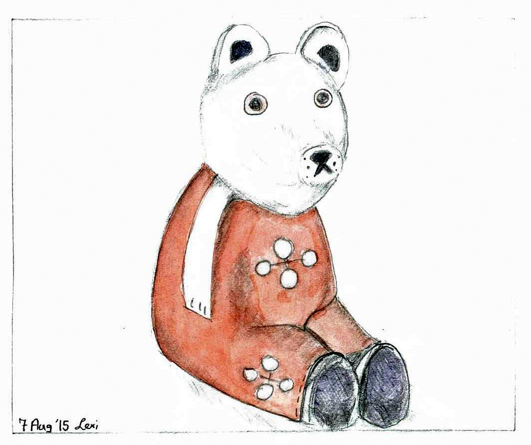 This is one of my first drawings at Art Group. We had to draw a small children's toy that our tutor had brought along. It's (obviously) far from perfect, but I had great fun doing it and was really proud of my efforts at the end.And my daughter loves him! :-)