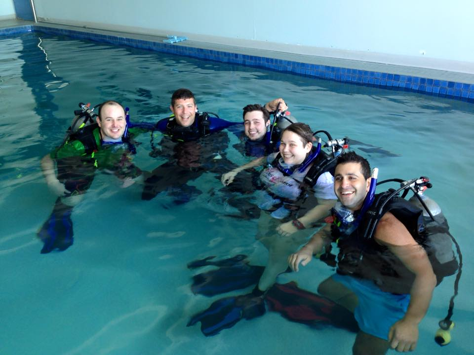 Our try dive at Adelaide Scuba