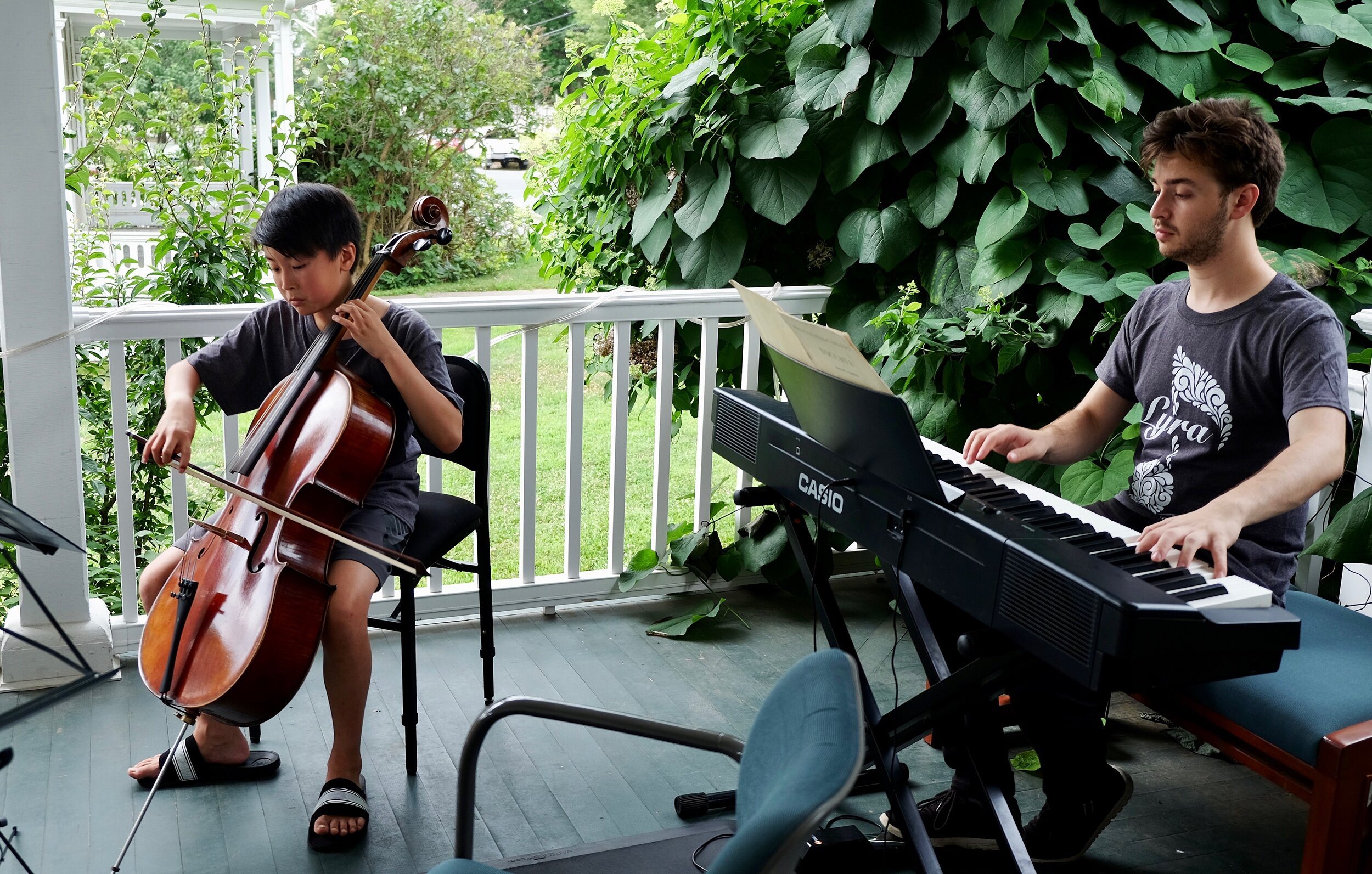 Porch Concerts at the Khan Institute