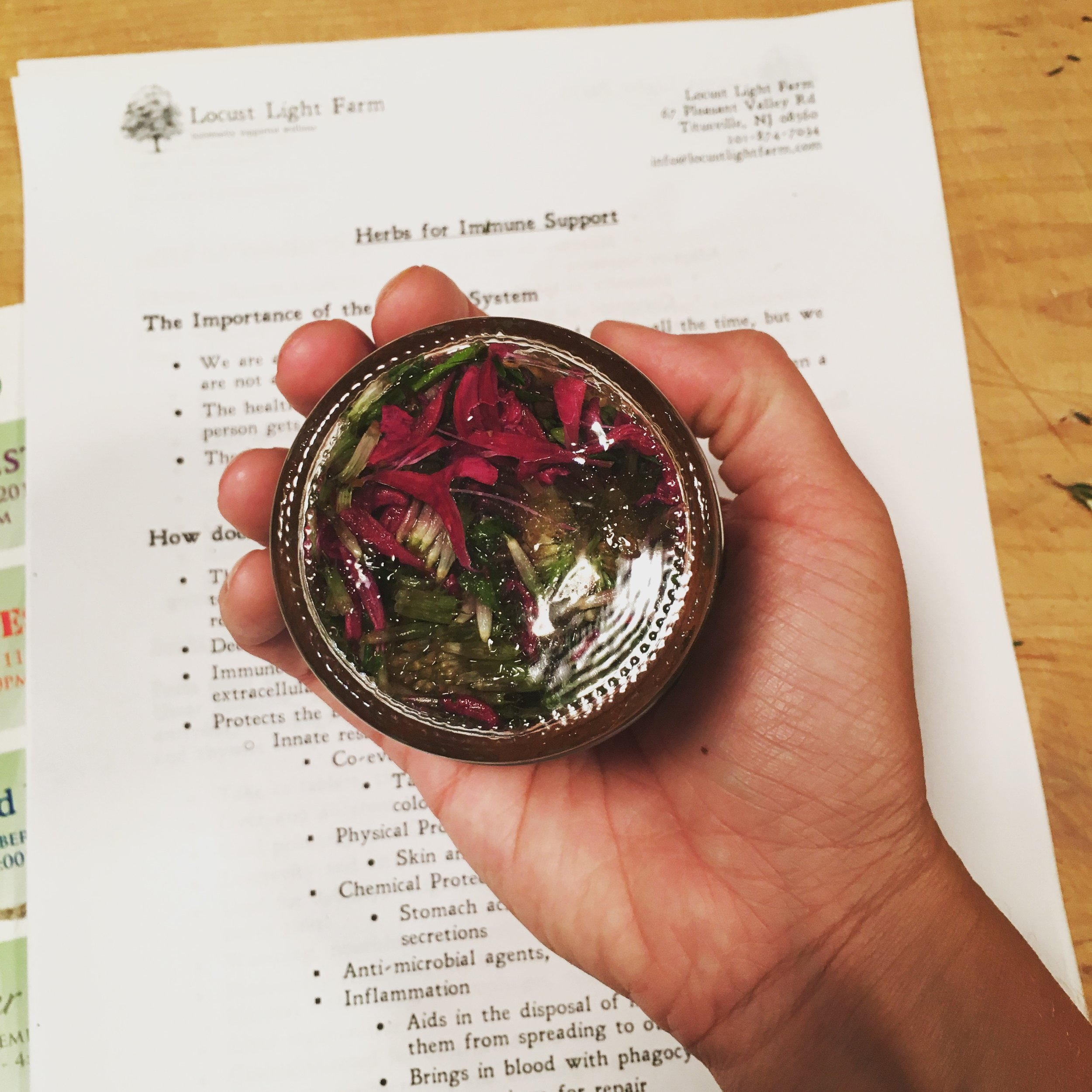 A handcrafted tincture from class