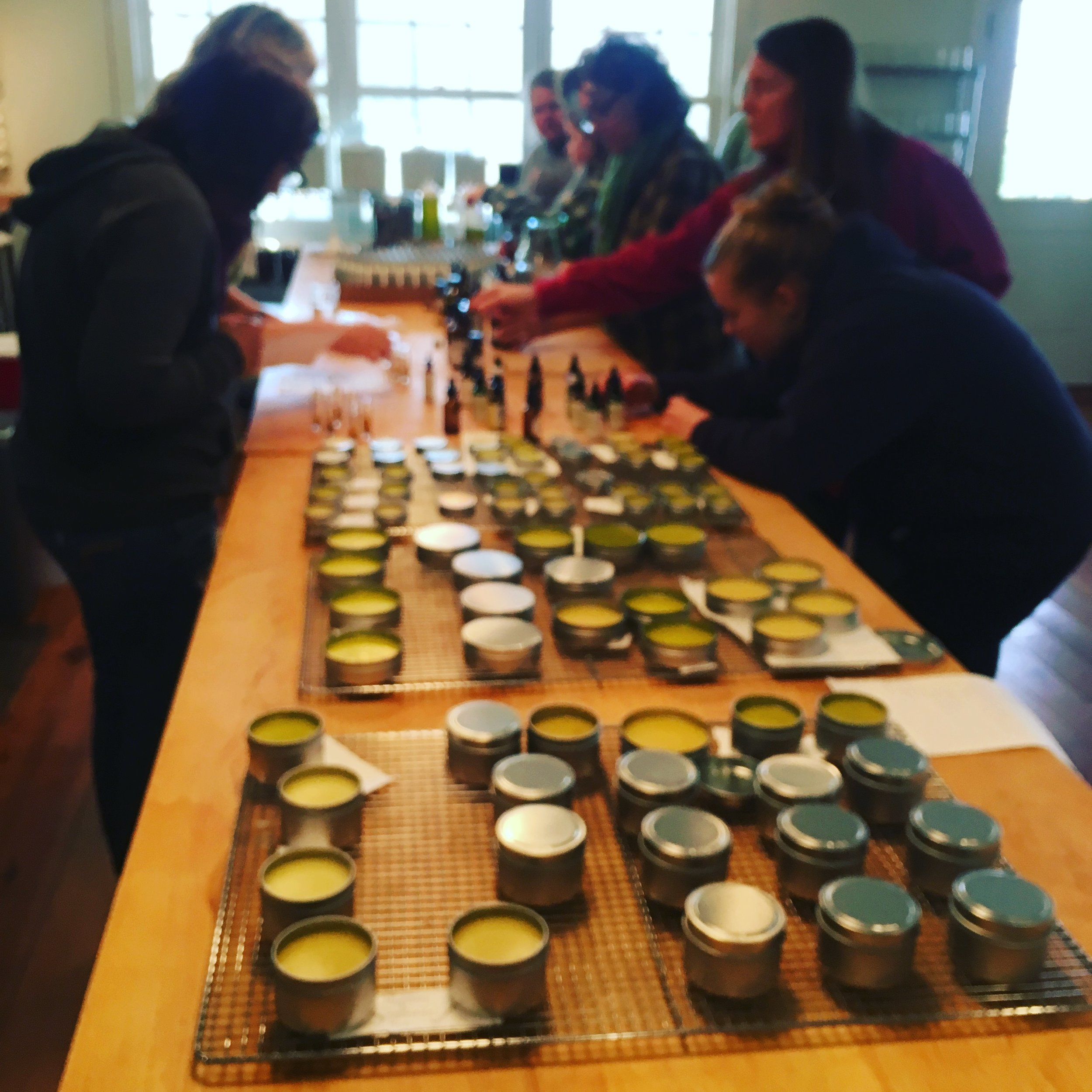 Making salves for holiday gifts
