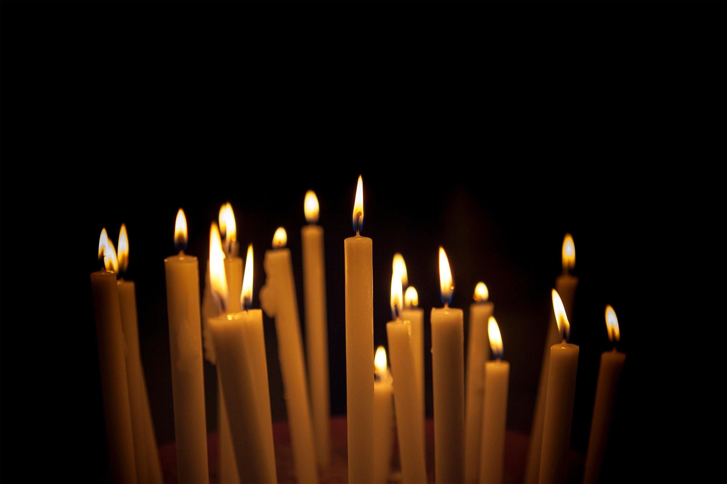 Every celebration involves candles. So many candles.