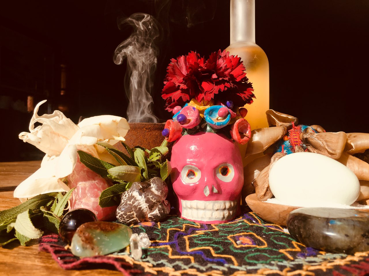 Sunday, April 29, 2018  5-8pm   Full Moon in Scorpio Limpia Ritual   Join us for an evening of limpia rituals under the transformative Scorpio Full Moon!  Together we will explore the power of spiritual clearing to purify our body, mind and spirit of heavy or negative energy.   Mistress Samantita will be our guide in demonstrating various types of traditional limpias (spiritual cleanses) from the curanderas of Mesoamerica. Samantita will share the use of eggs, blessed waters, sacred plants, incense & spiritual baths. Willing participants will receive clearings as part of our exploration.   It will be a sacred evening of magic, connection & lunar celebration!  Snacks & beverages will be provided afterward!  $15 Suggested Donation   *RSVP to joygallerysf@gmail.com to reserve your spot
