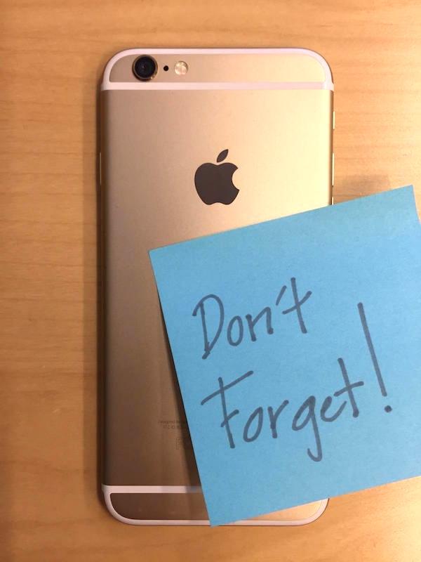 Stickie on iPhone