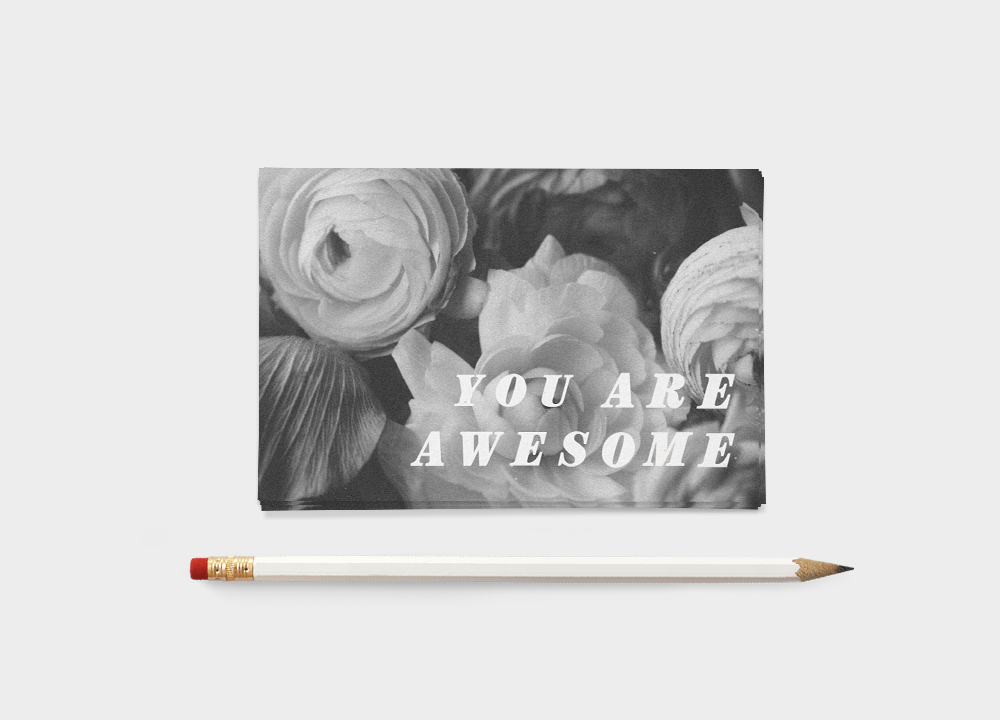 LLP blog | You Are Awesome 4x6 print