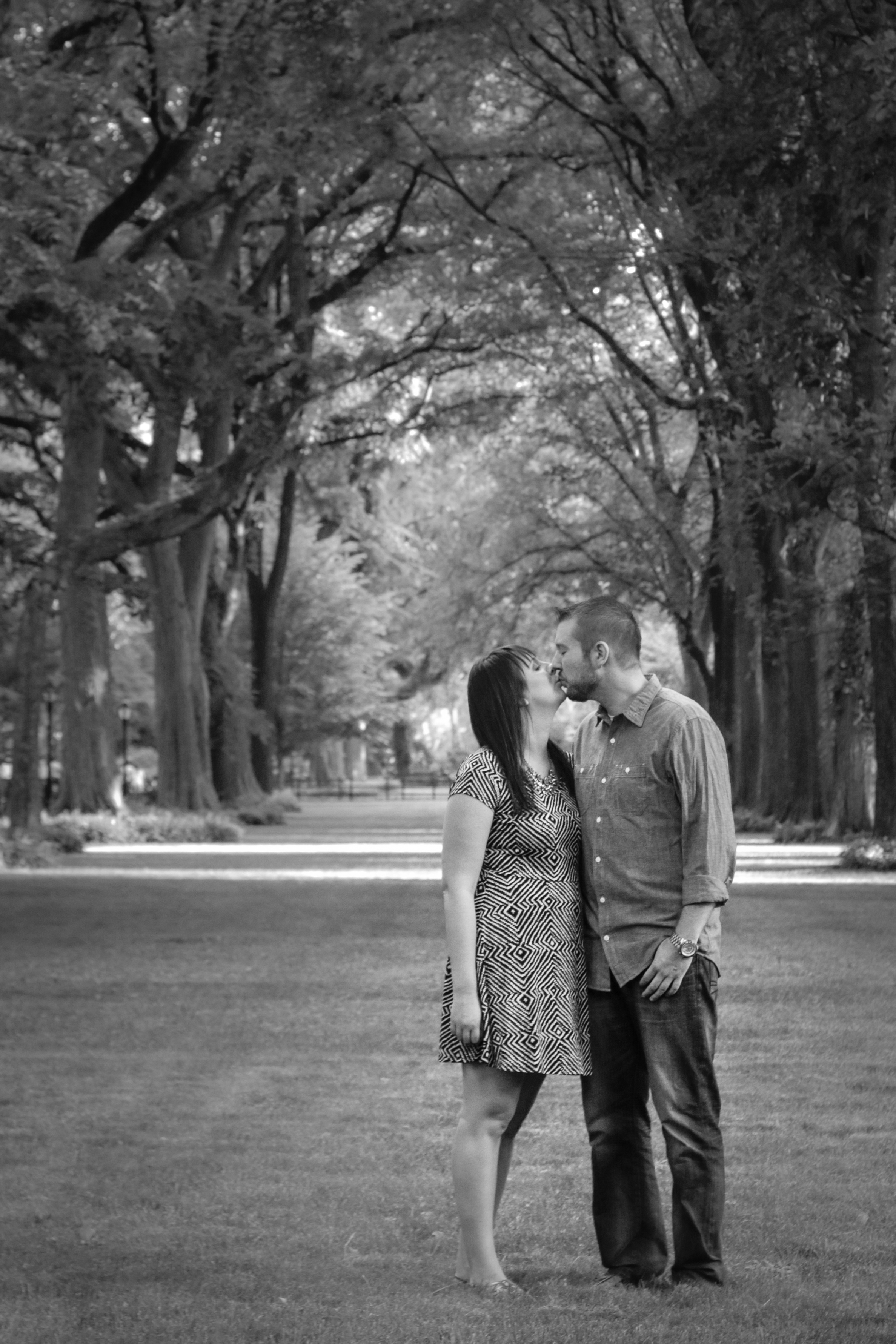 Central Park Engagement Photos - The Mall