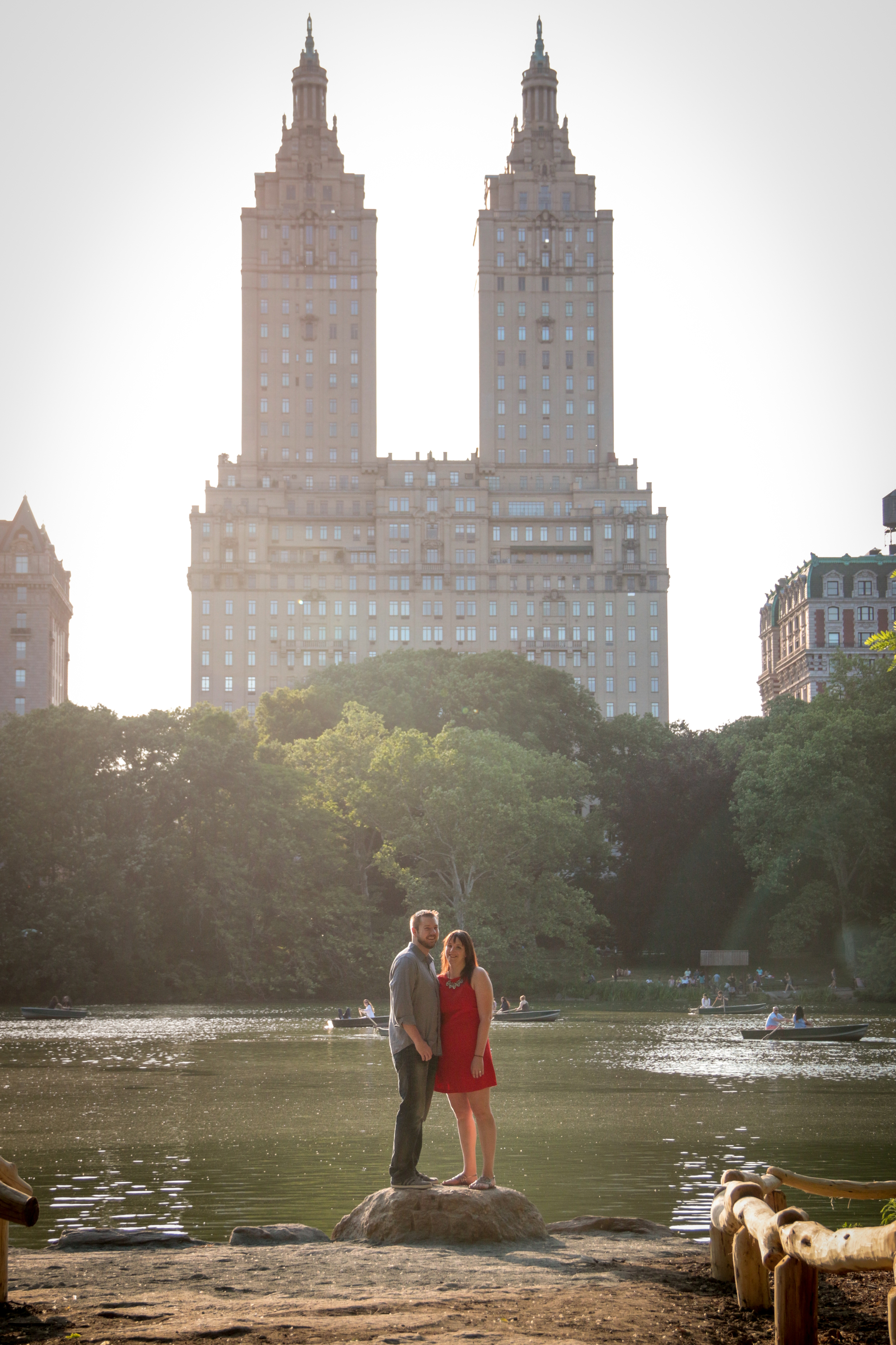 Central Park Engagement Photos - San Remo and The Lake