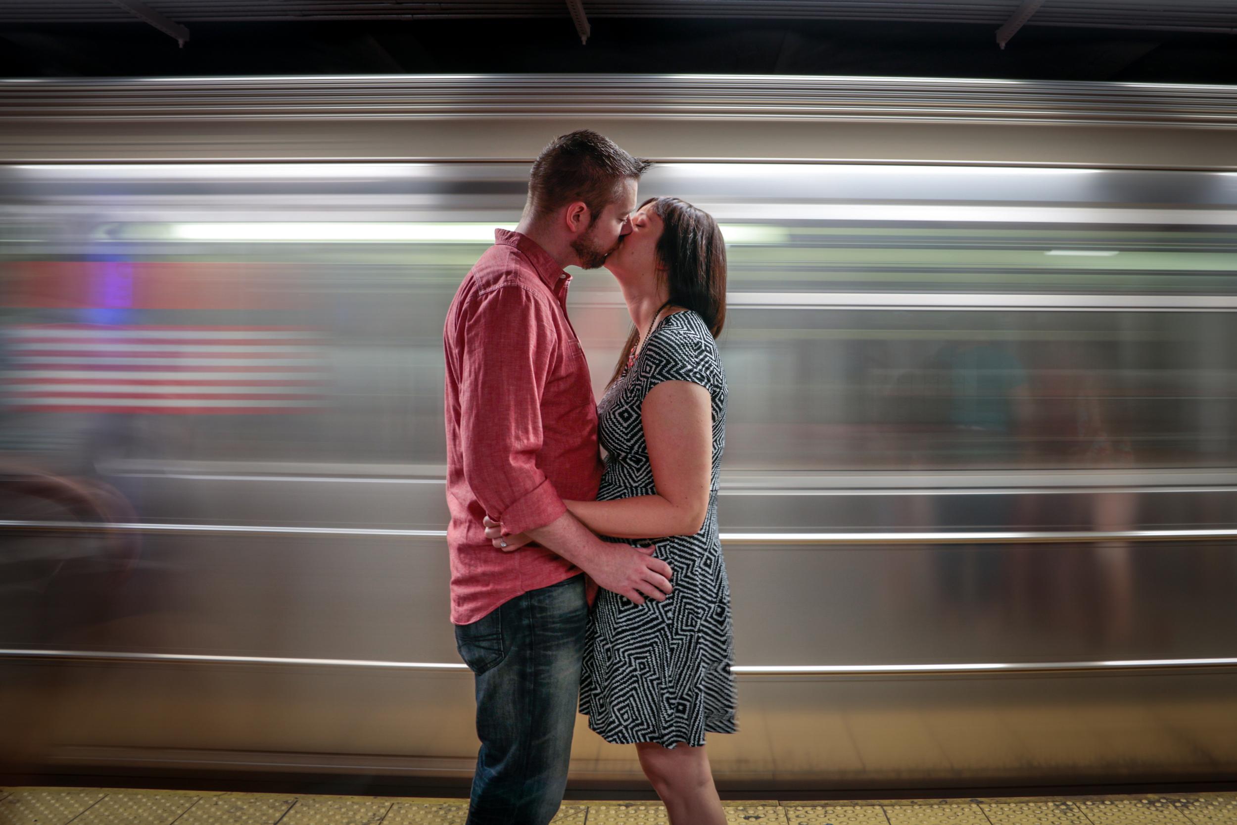 Engagement Photos - NYC Subway