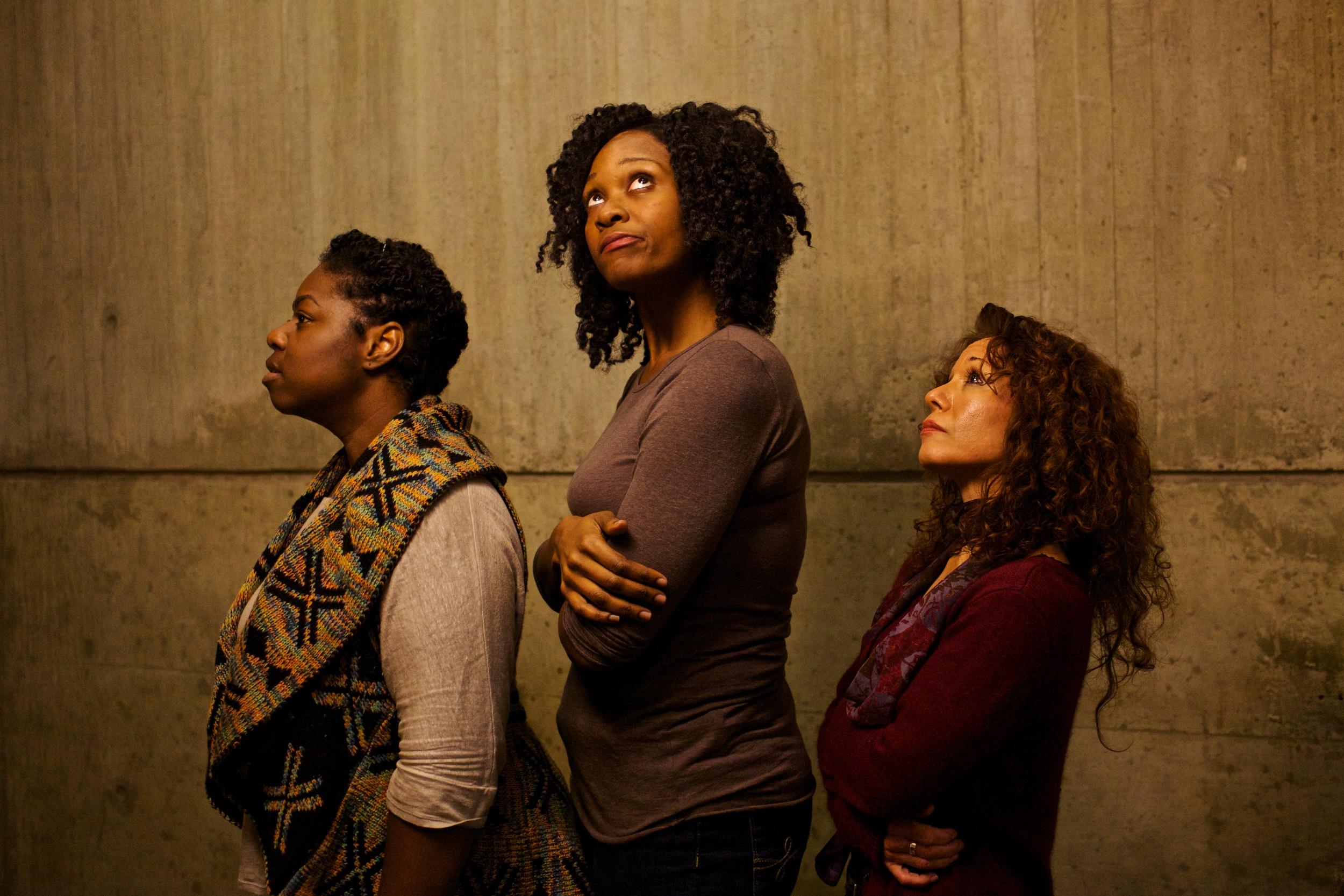 Ensemble actors Meagan Dilworth, Jasmine Rush, Majorie Tatum (left to right) Photo by Natalie Herbert