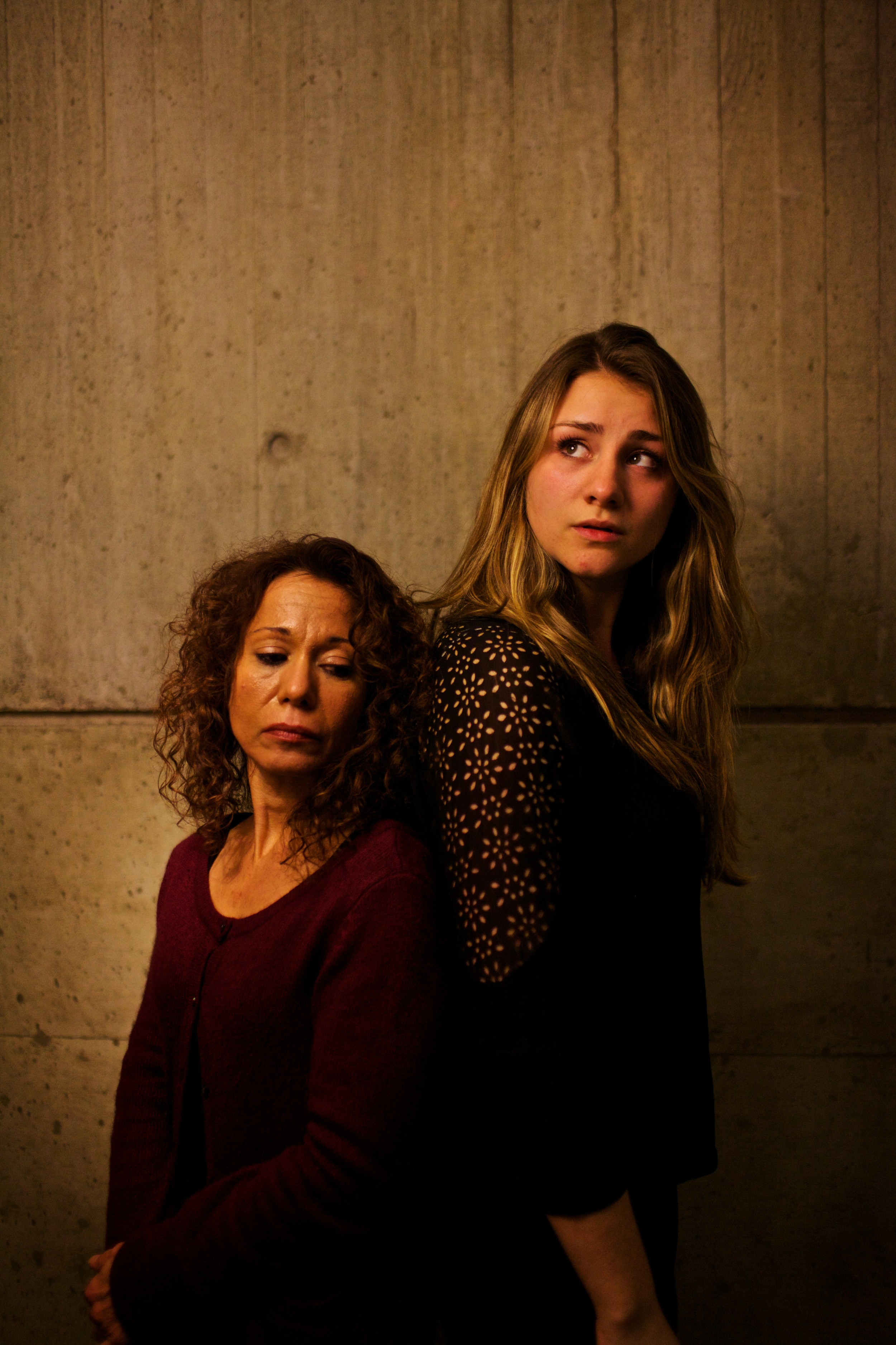 Ensemble actors Majorie Tatum and Kathleen Burke (left to right)  Photo by Natalie Herbert