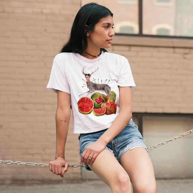 Just a little self-promo reminder that you can get this amazing Frida collage design tee in my #etsyshop  The link is in my profile.  Totes will be in stock for the holidays, which is great because you don't have to worry about size AND everyone needs them for shopping! #fridakahlo  #stag