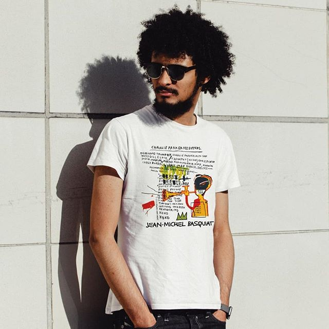 Another tee from my Etsy... #Basquiat collage! He's my favorite painter. 💗