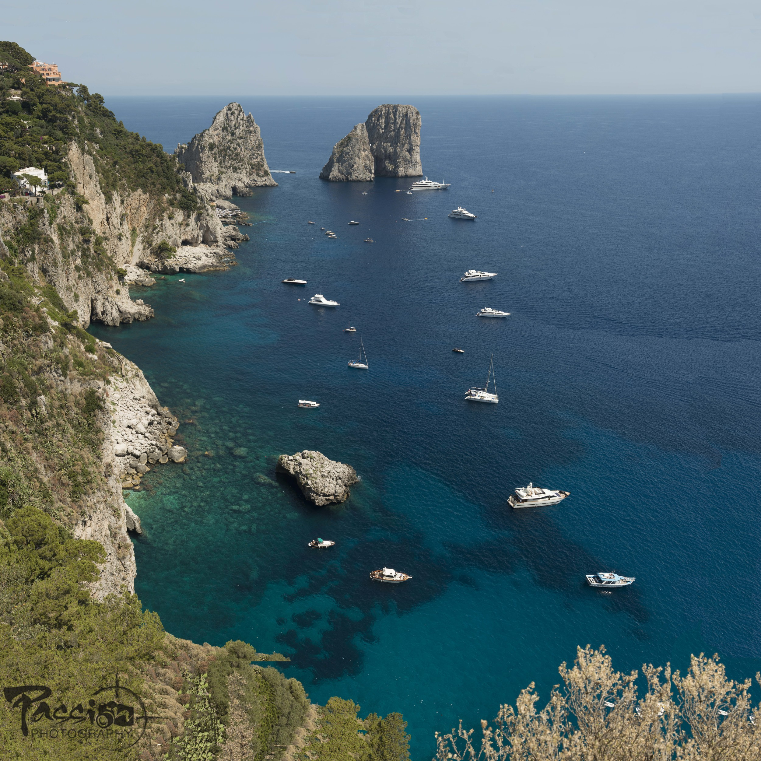 The Isle of Capri steep inviting coastline