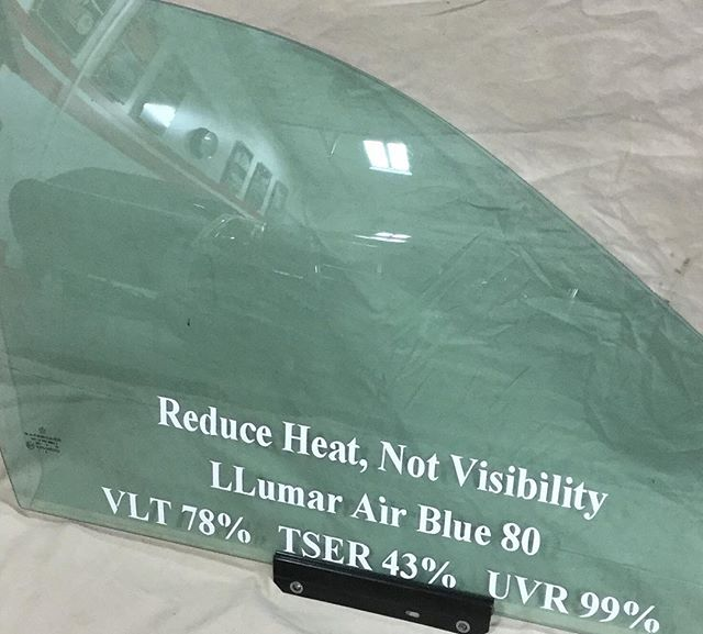 If you want to cut down the heat in your car while retaining great visibility then we have the perfect film for you! Ask about our Air Blue series today! #llumar #windowtint #summerheat