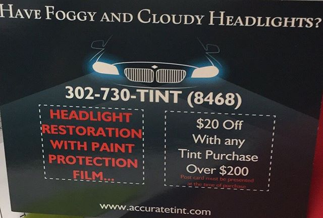 Are your headlights cloudy? Is it hard for you to see at night? Well let us clear those up for you by doing headlight restoration! We'll have them shinning bright like a diamond💎💎💎