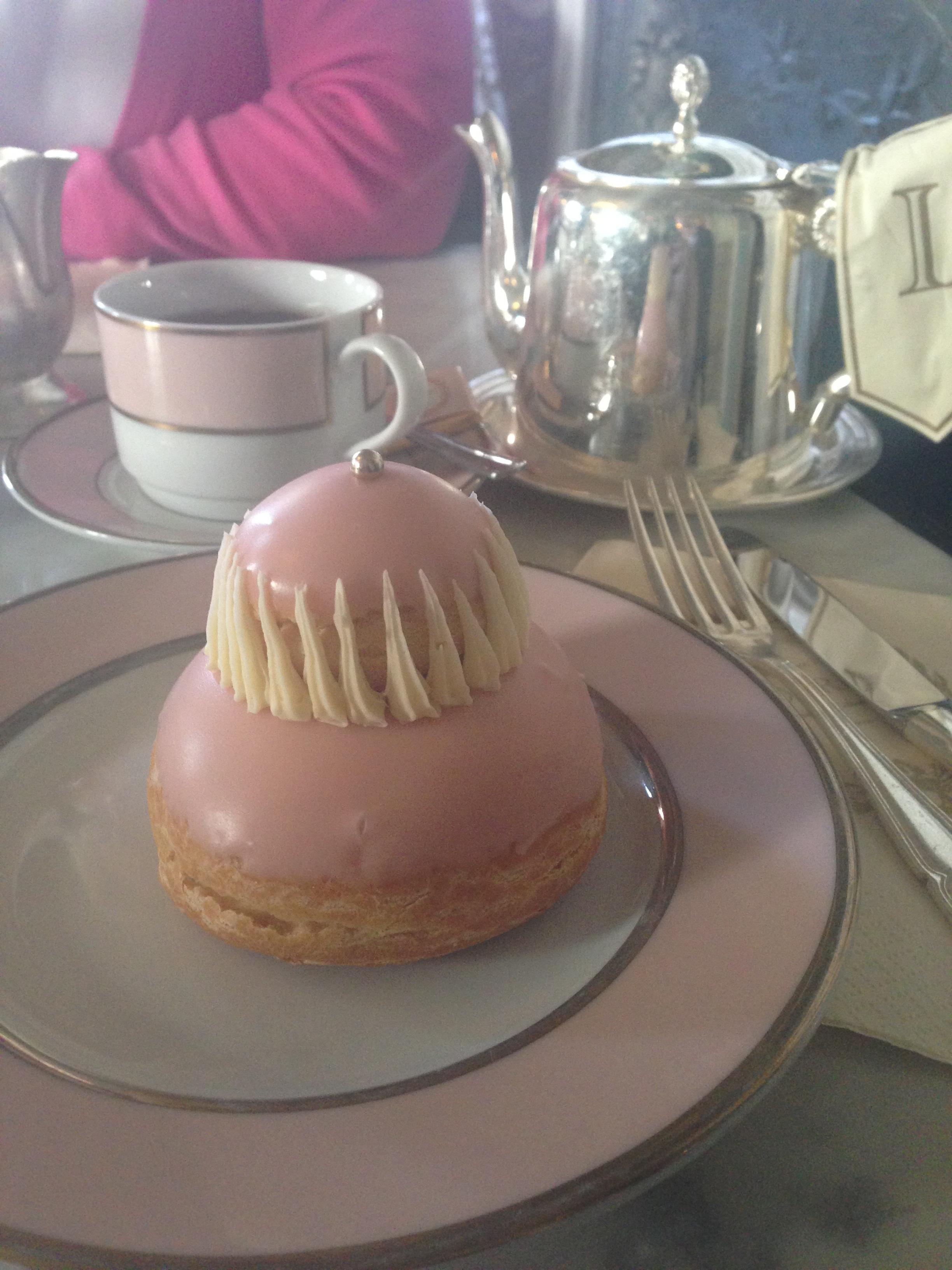 Tea & a Rose Réligieuse at Ladurée, Paris.