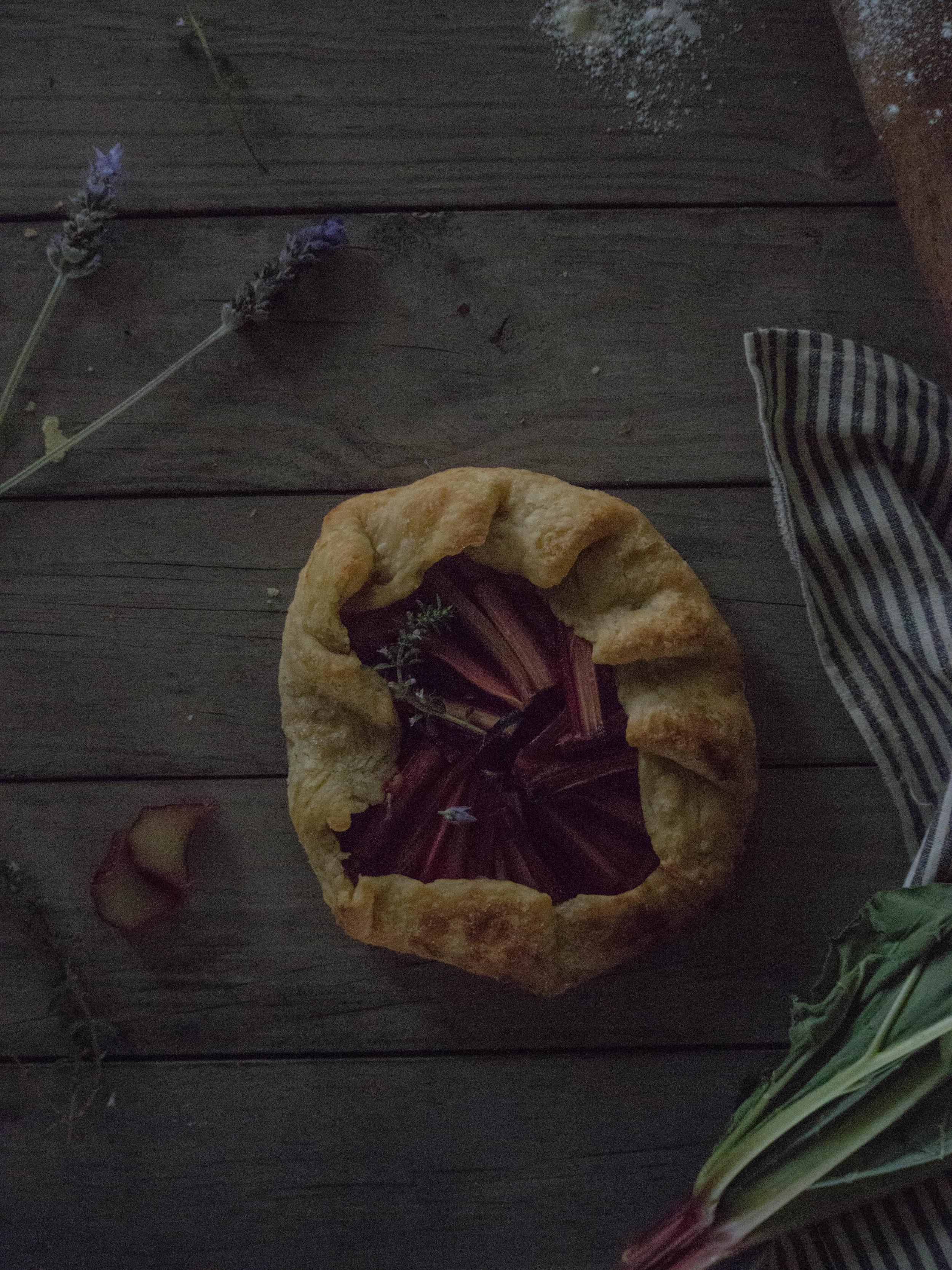 Slow Living Workshop Rhubarb Galette - Kulinary Adventures of Kath
