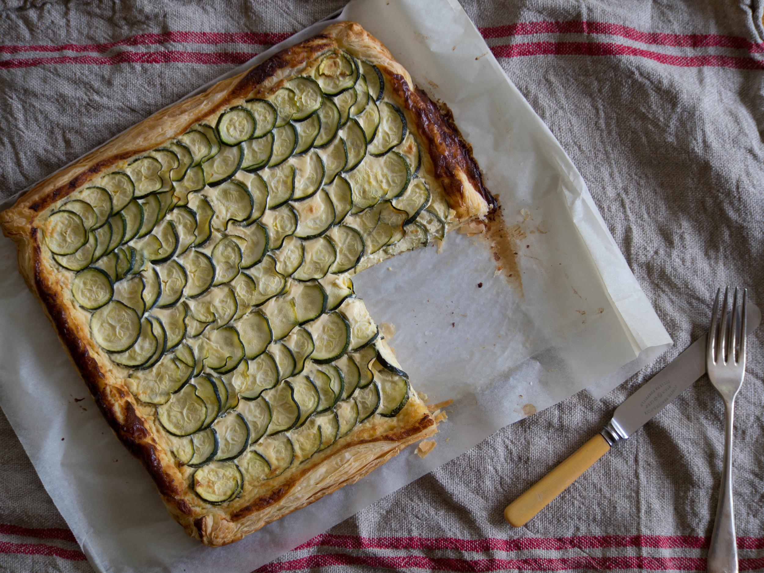 Sophie's Zucchini Tart -  Recipe Here