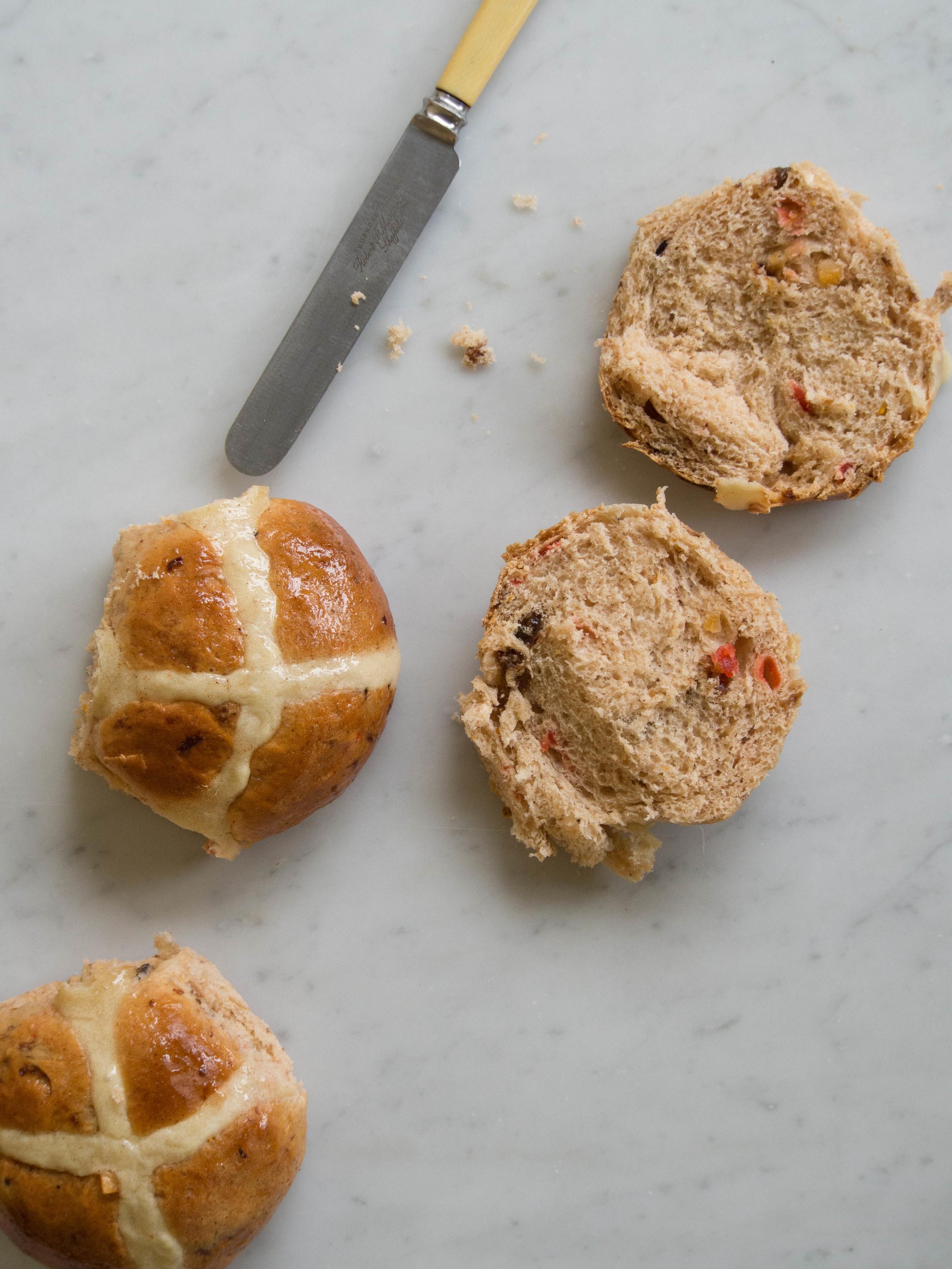 Homemade Hot Cross Buns - Recipe  Here