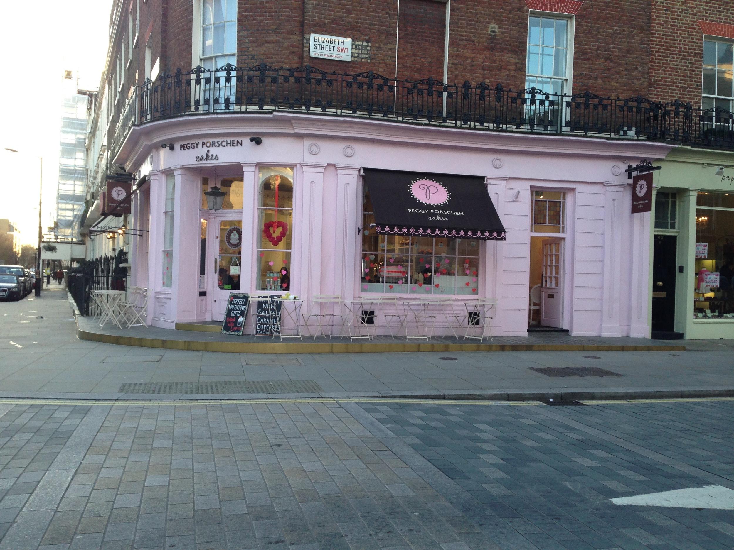 Peggy Porschen's Parlour - 116 Edbury St Belgravia, London.