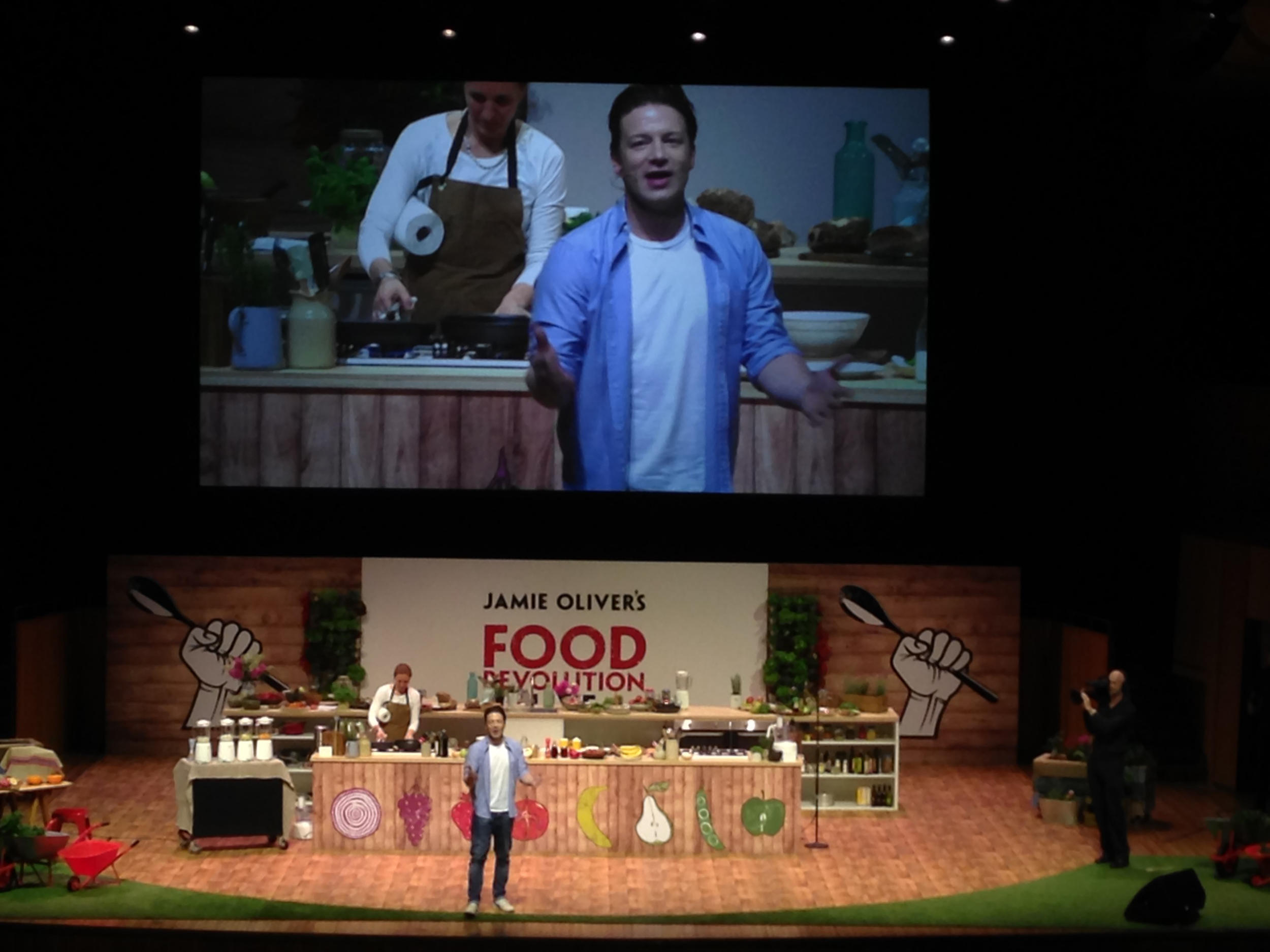 Jamie Oliver's Food Revolution Live, Sydney Opera House (March 29, 2015).