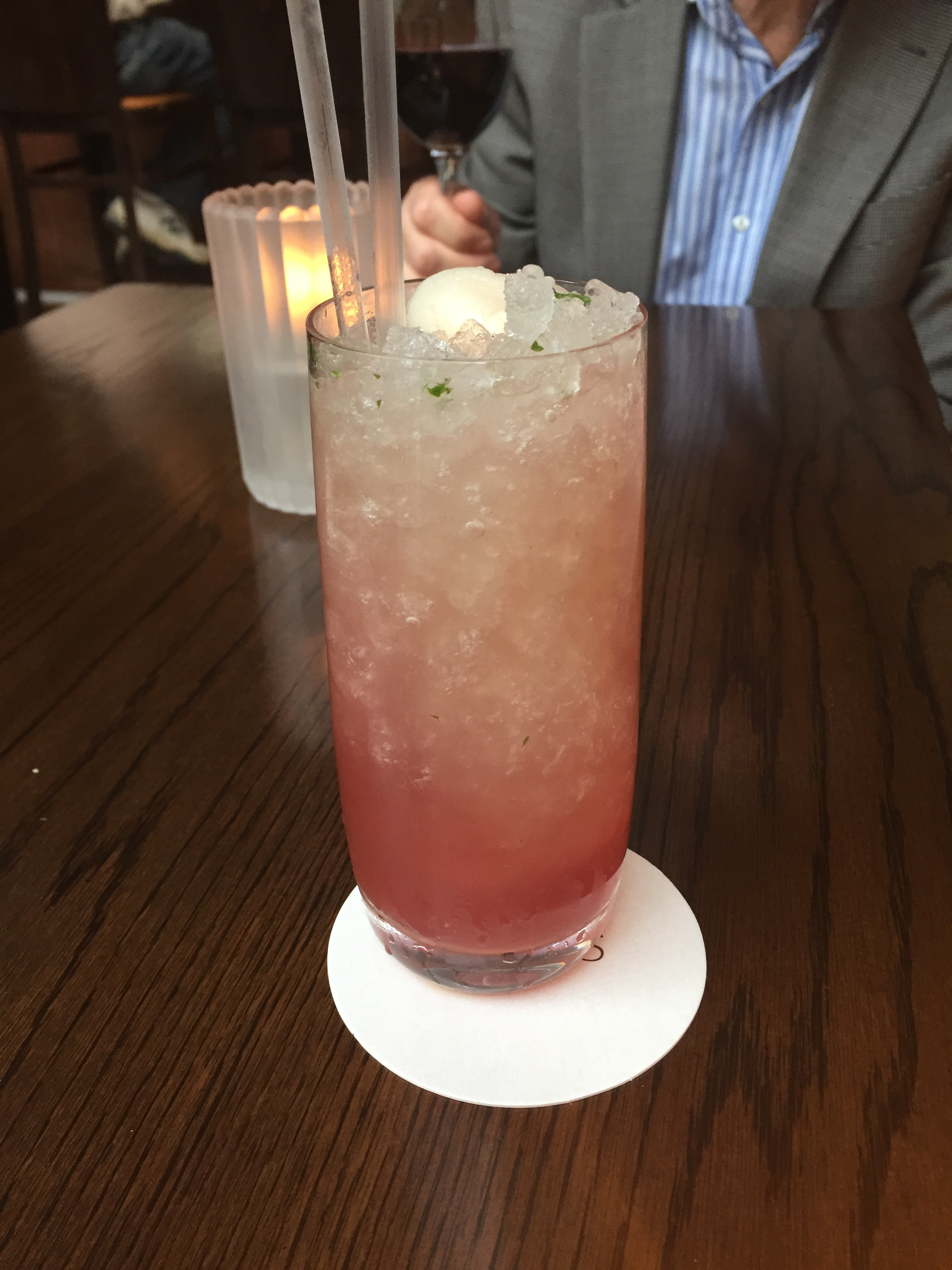 Lychee Rose Mocktail at the Glass Brasserie