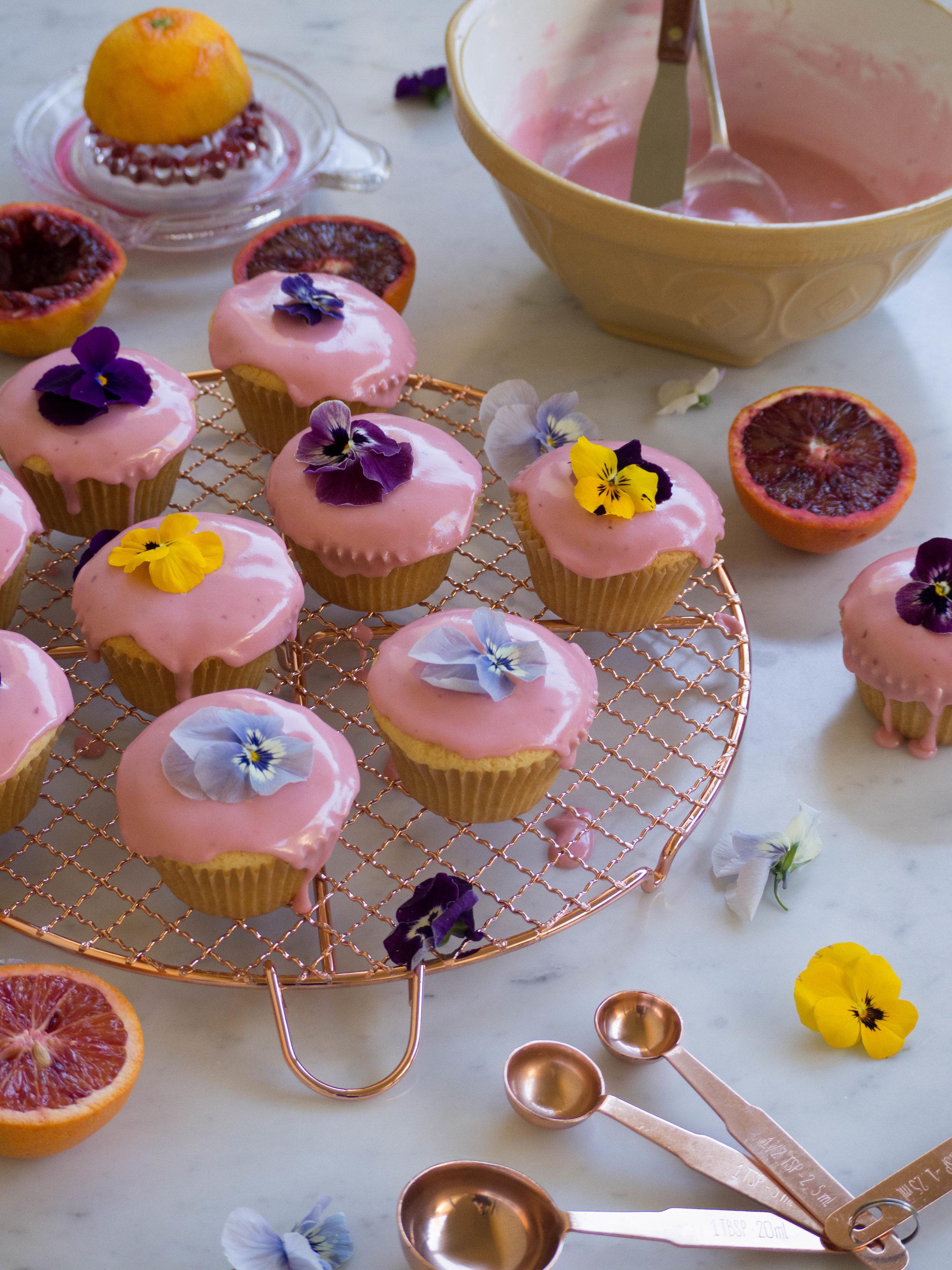 Blood Orange Cupcakes