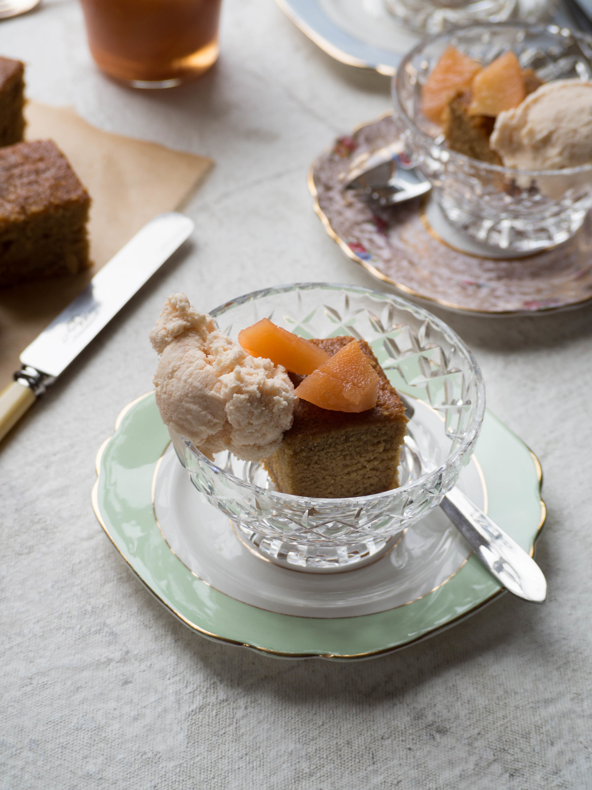 Ginger & Quince Cake with Quince Ice Cream