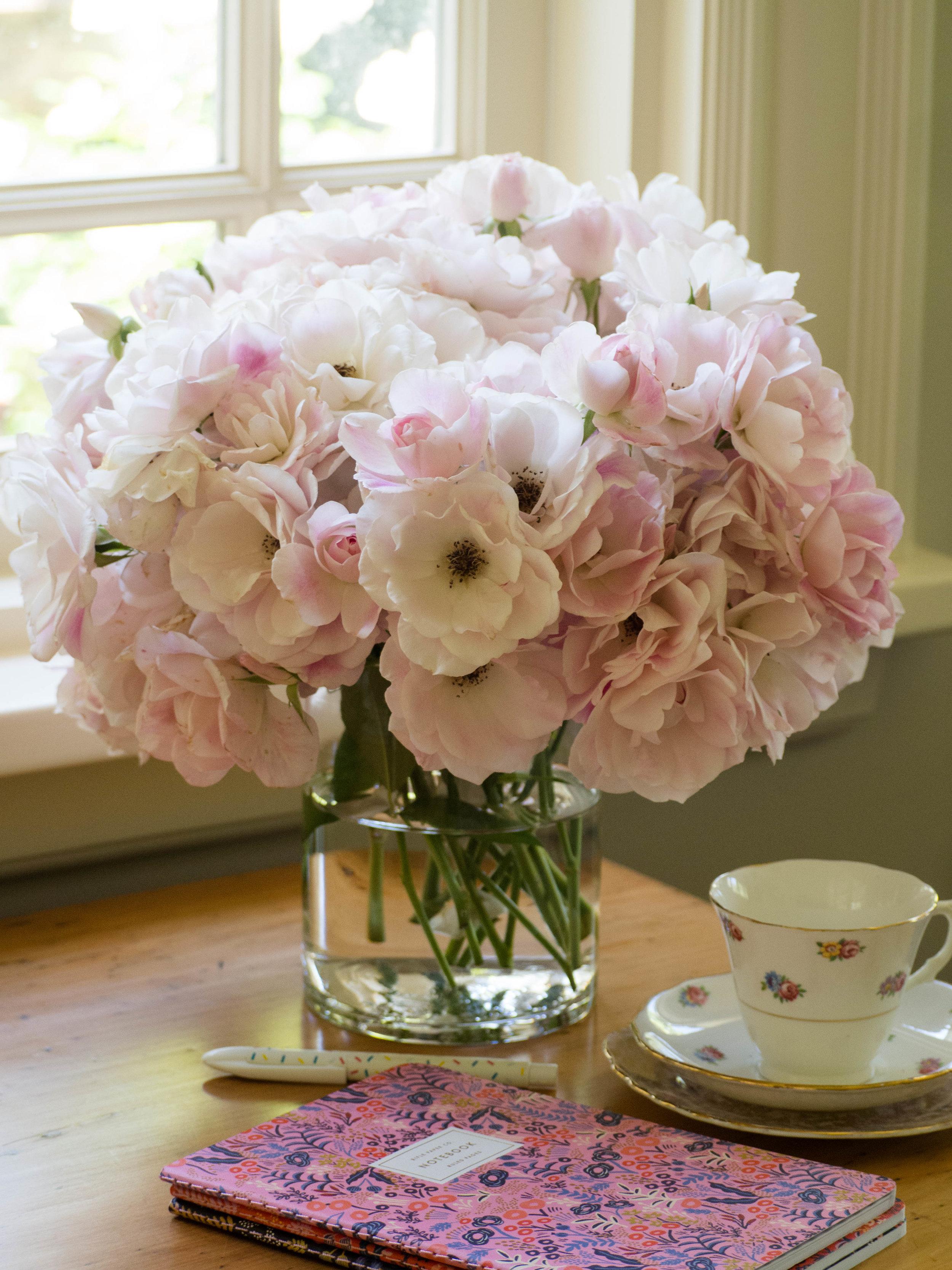 Homegrown Iceberg Roses