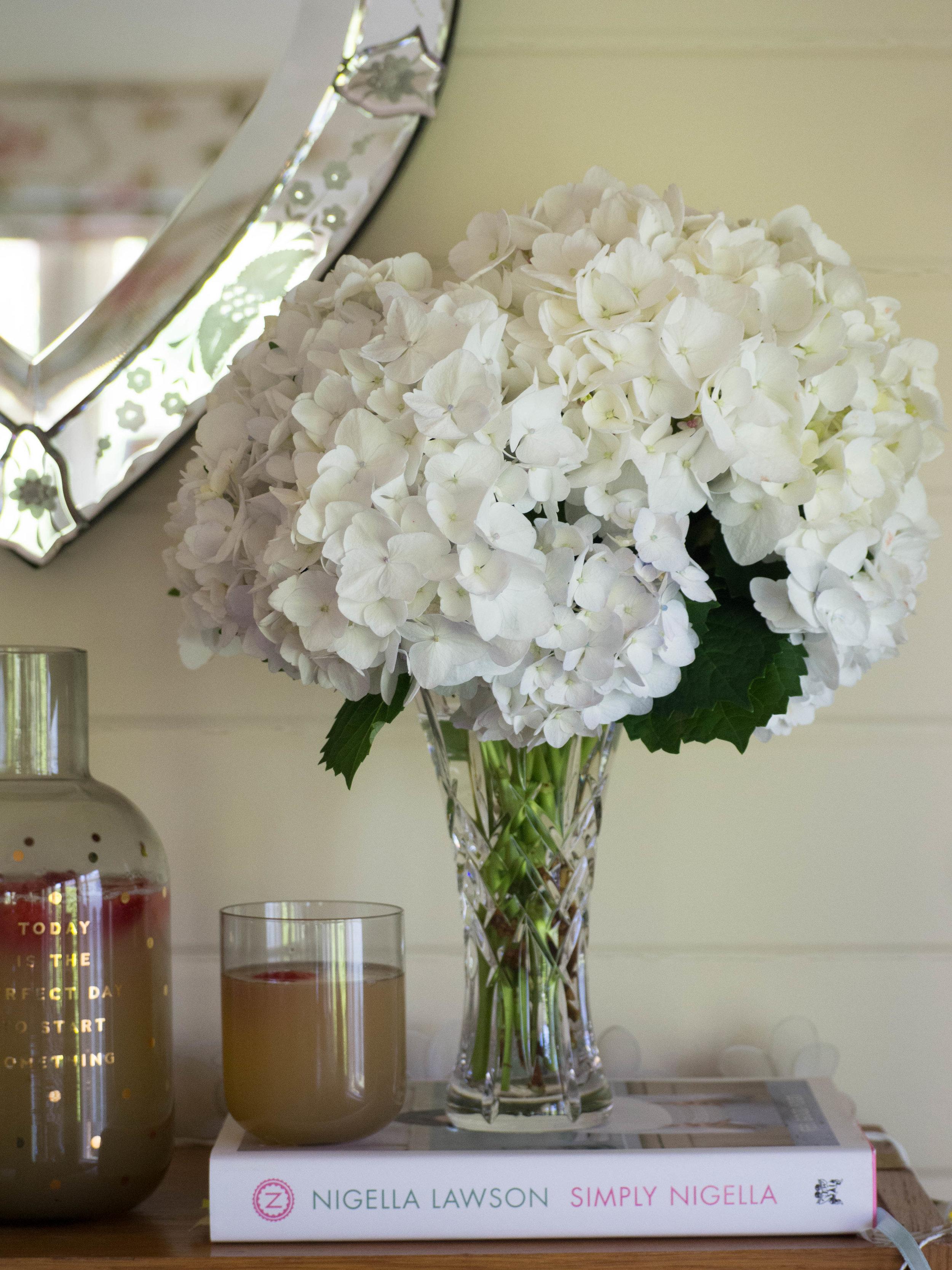 Homegrown Hydrangeas + Elderflower & Strawberry Cordial