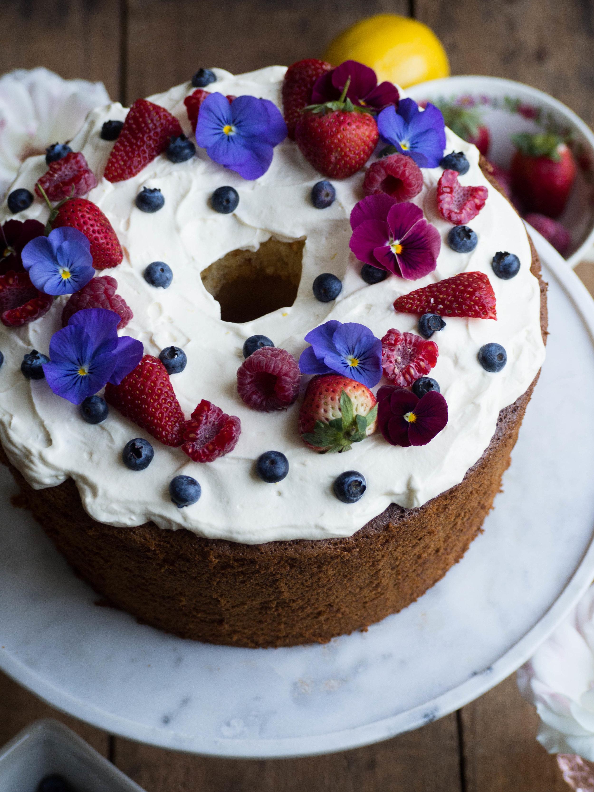 Elderflower Chiffon Cake
