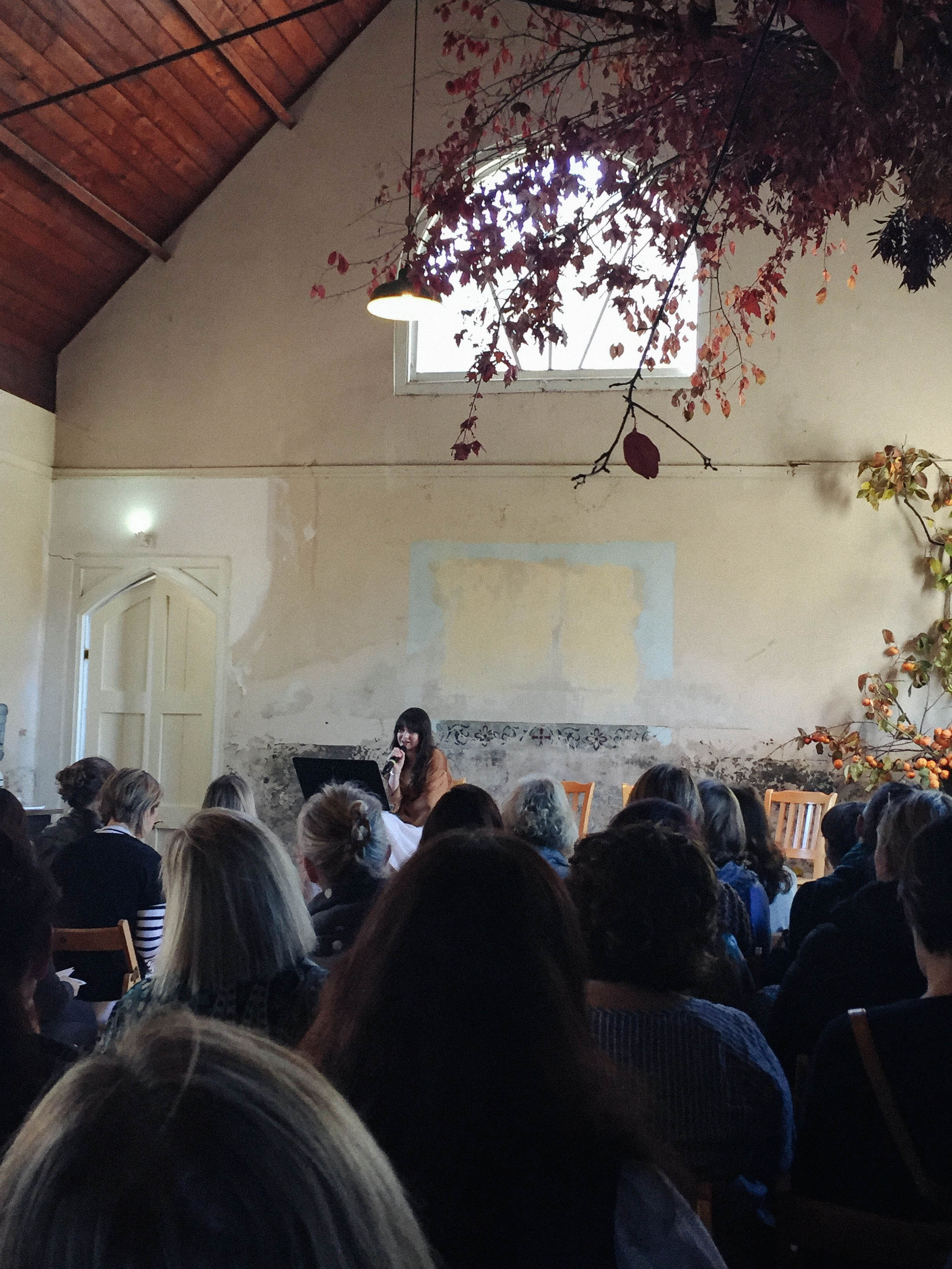 Sara Tasker speaking at the My Open Kitchen Gathering 2018