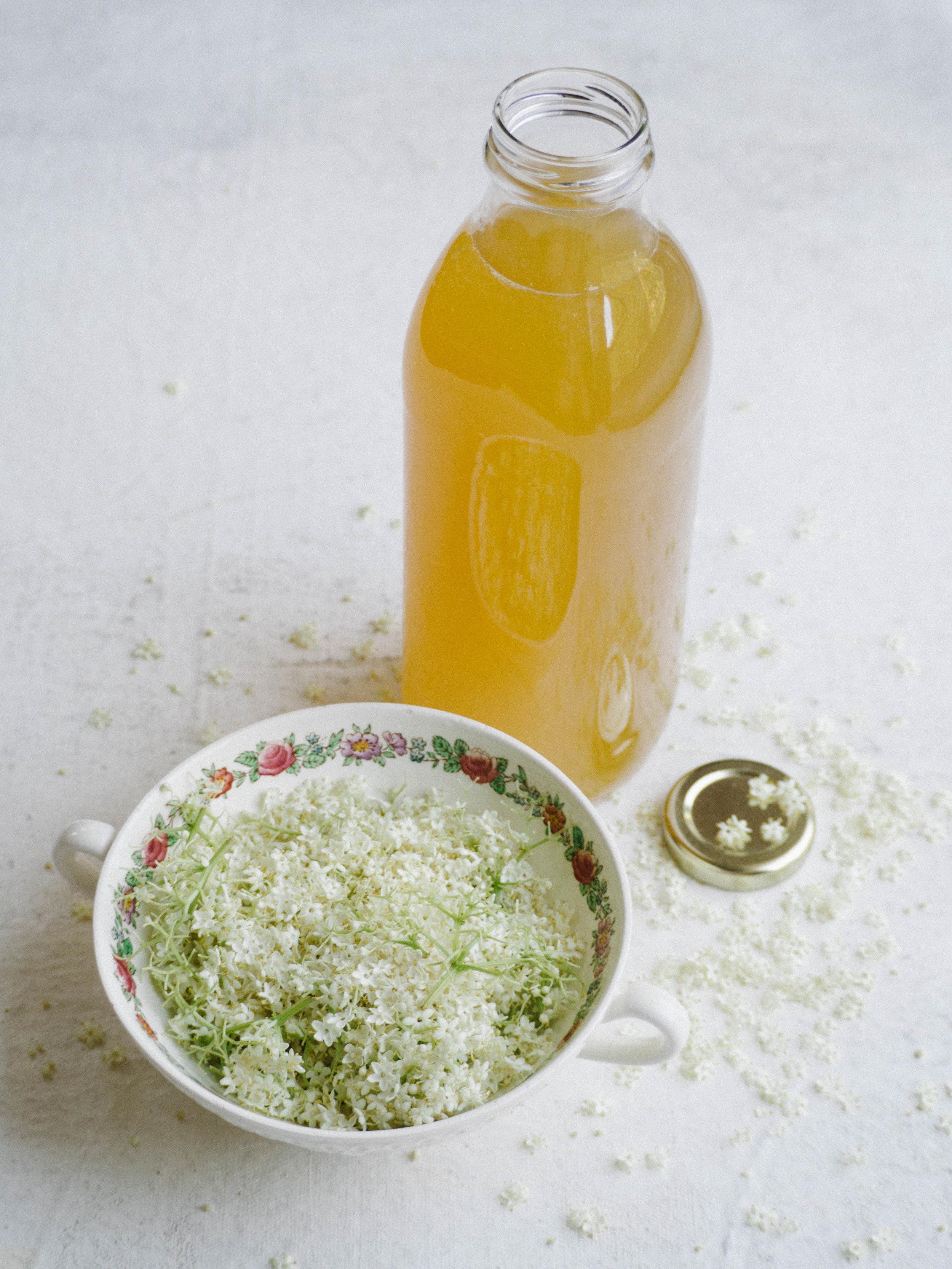 Elderflower and Lemon Cordial (Recipe One)