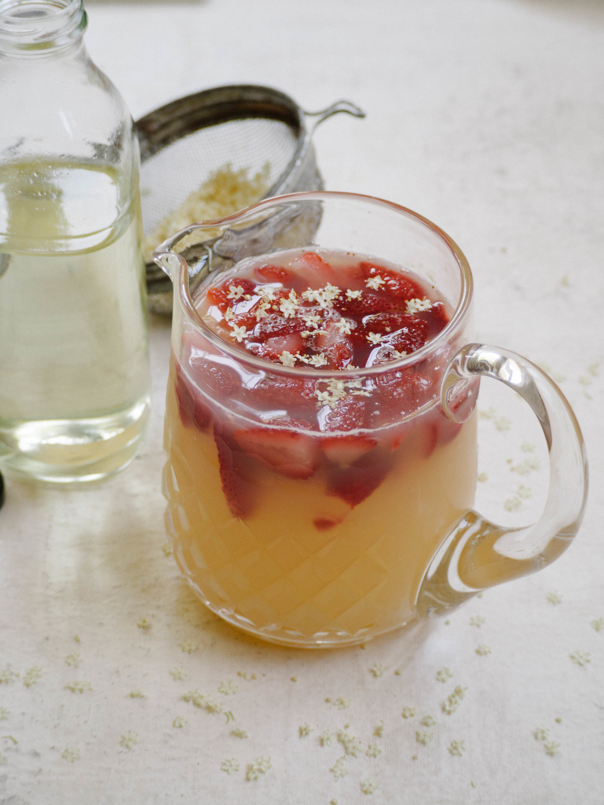 Elderflower Strawberry & Rose Cordial