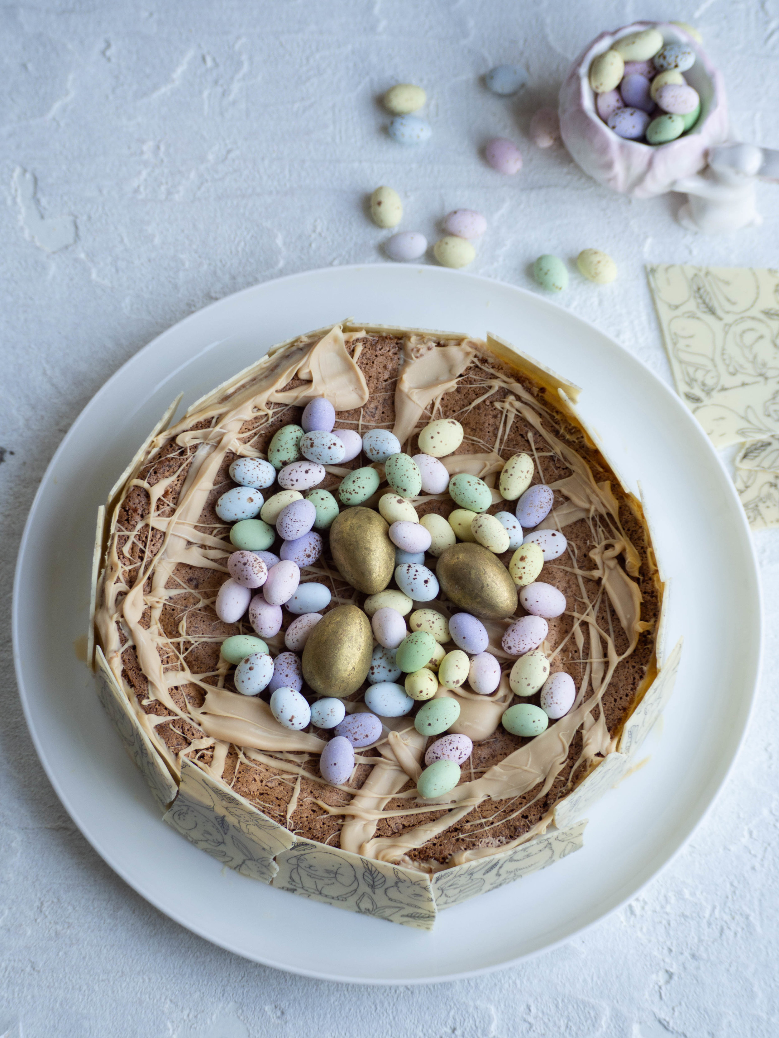 White Chocolate Easter Torte (Passover Friendly)