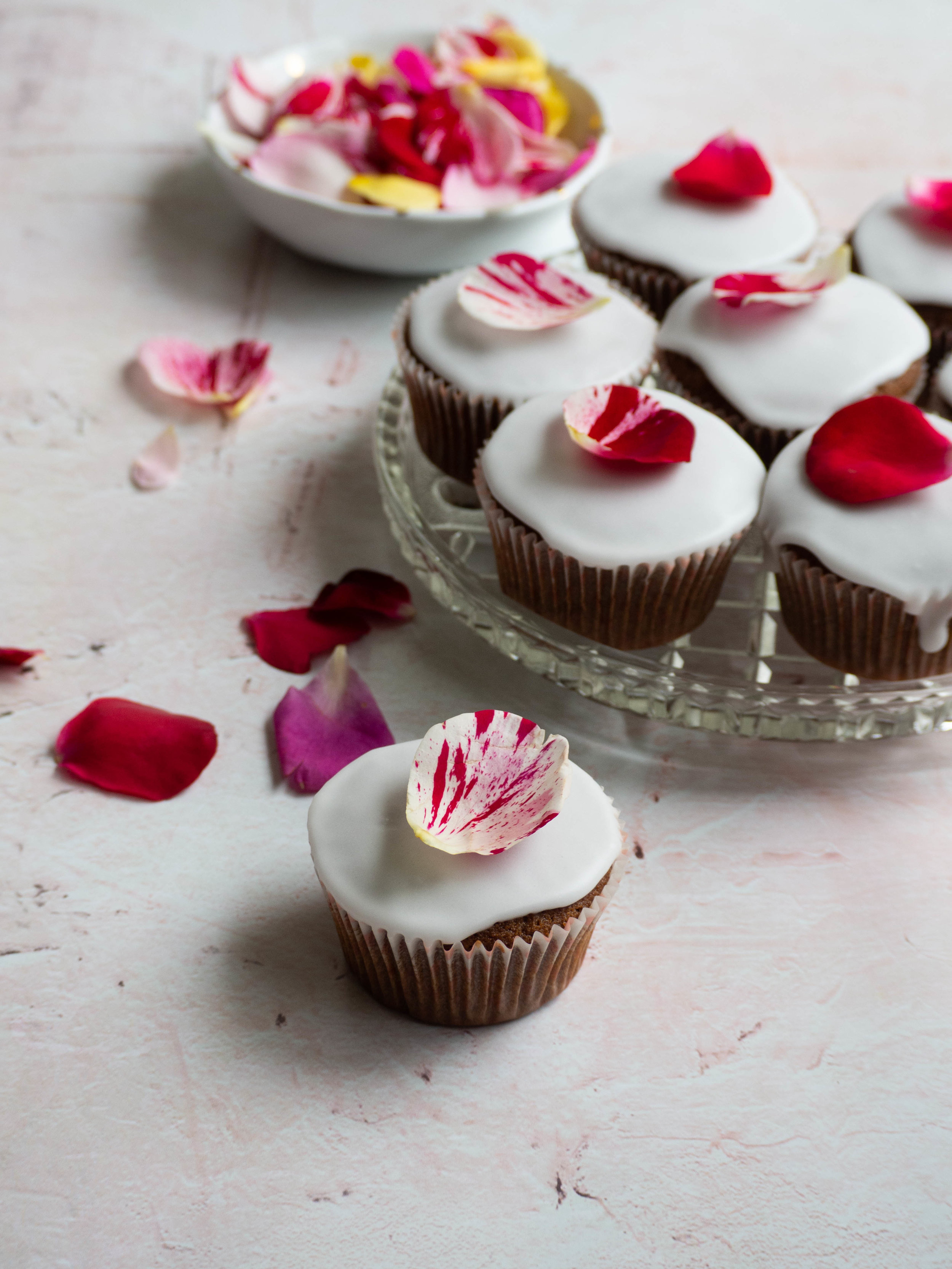 Ginger Date & Rose Cupcake - recipe from my eBook 'Baking with Rose'