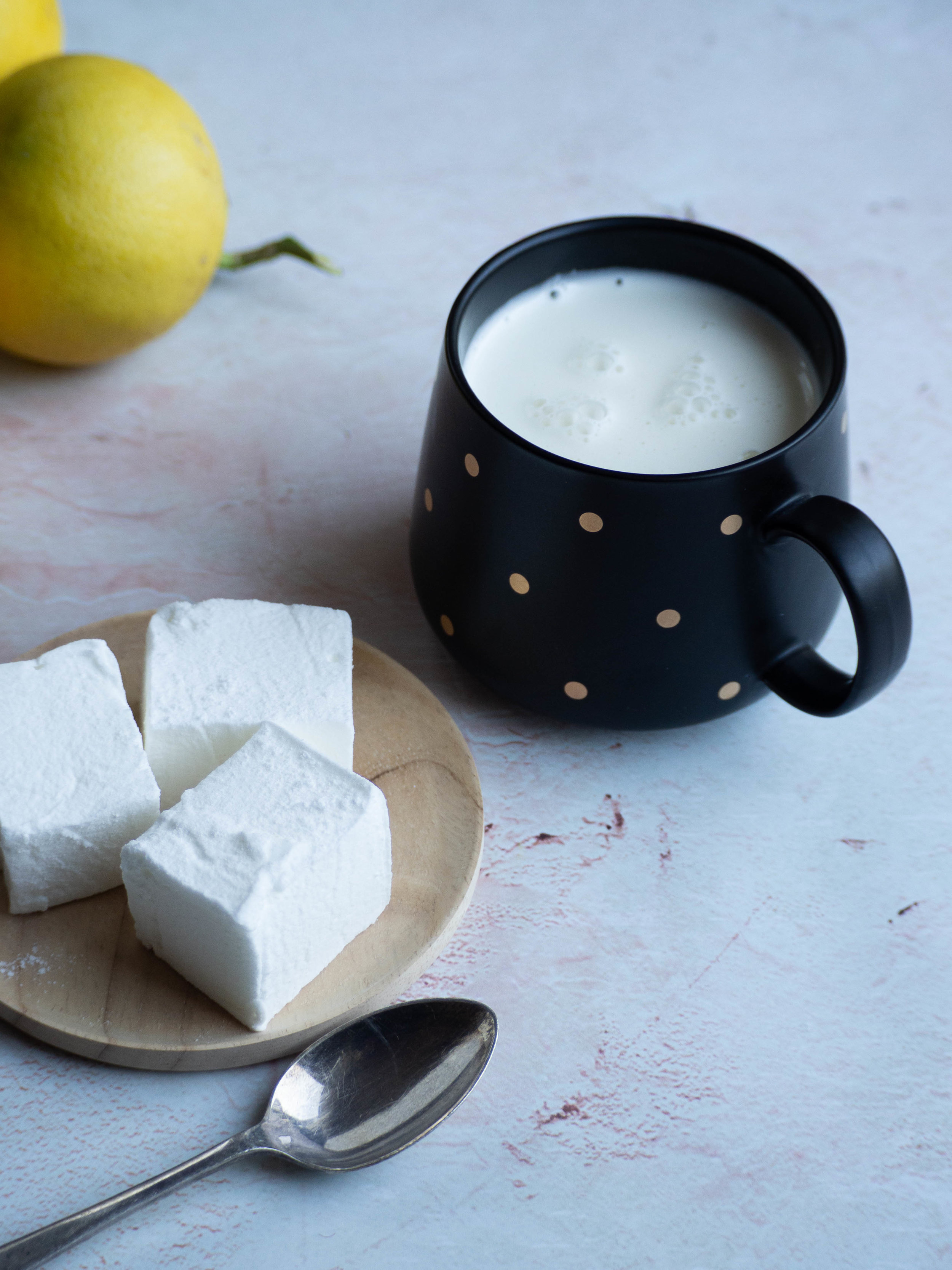 Bergamot Marshmallows with a White Hot Chocolate