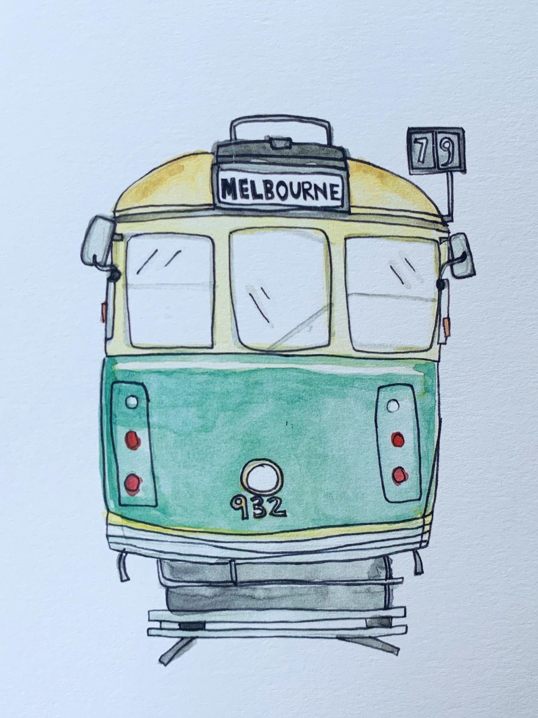 Melbourne Tram Card by Natalie Grantham