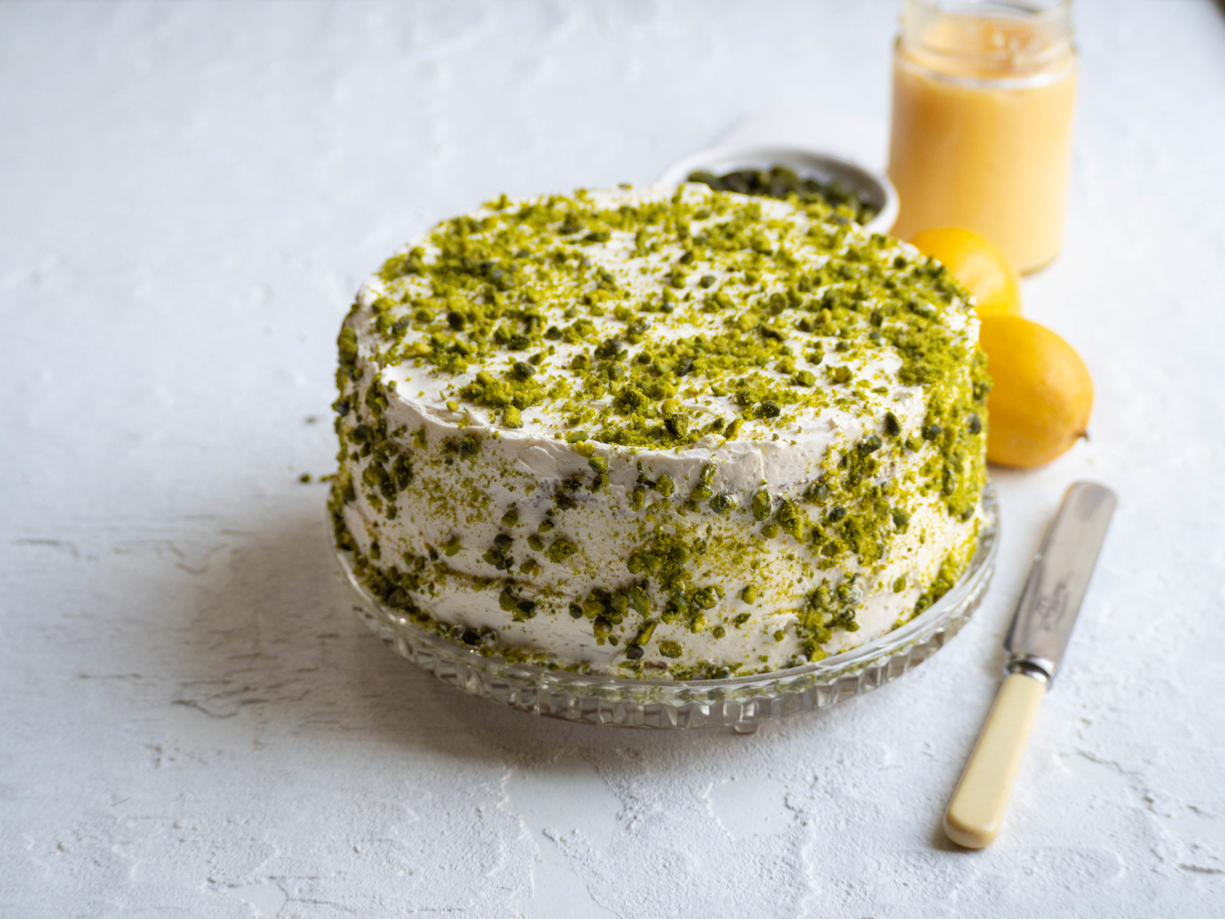 Beatrix Inspired Pistachio and Lemon Cake