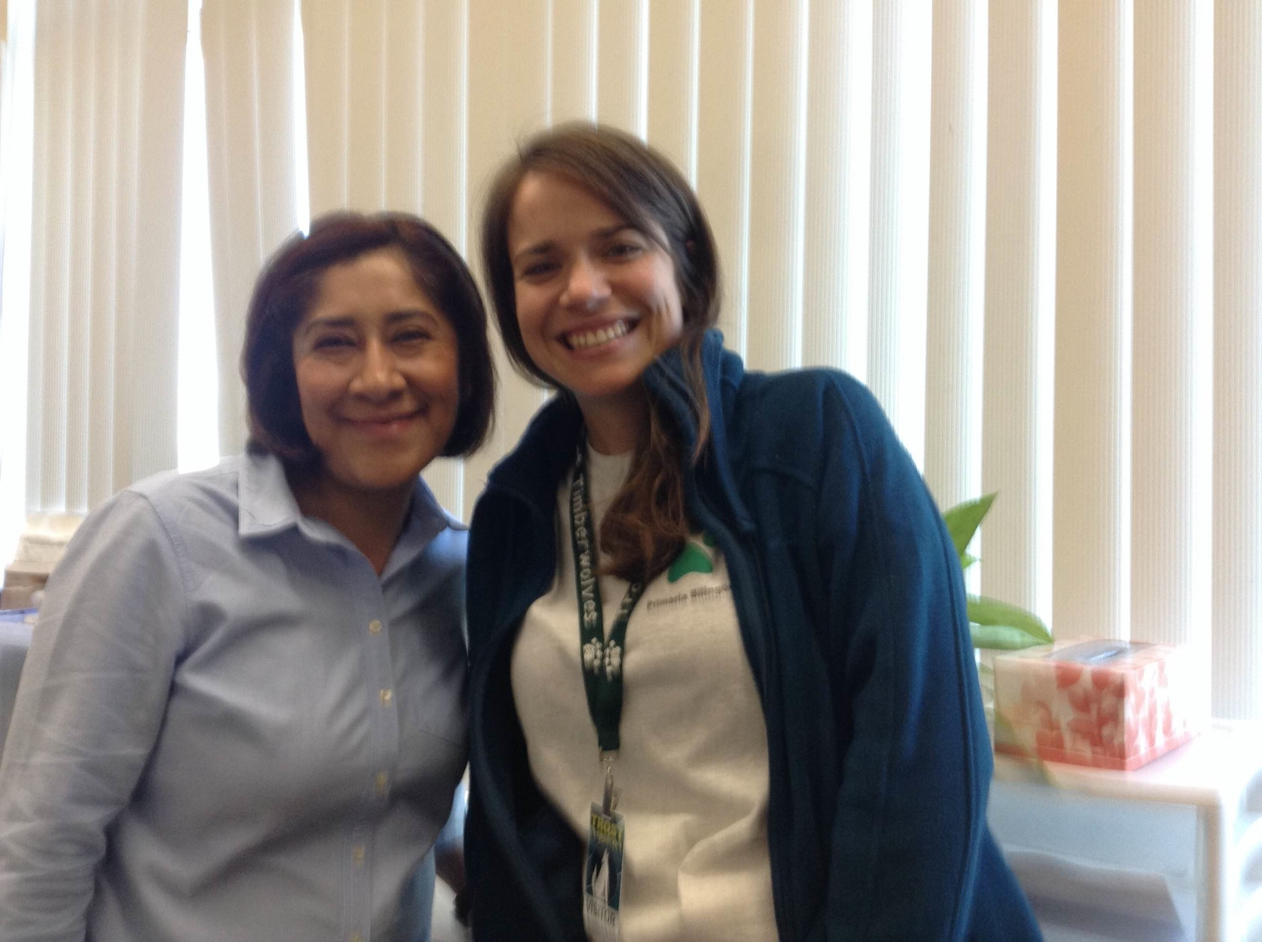 At Trost Elementary in Canby, Oregon, Elsie gets to work with master teacher, Victoria Aguilar. Together they teach 60 fifth graders in both Spanish and English, focusing in particular on math and literacy.