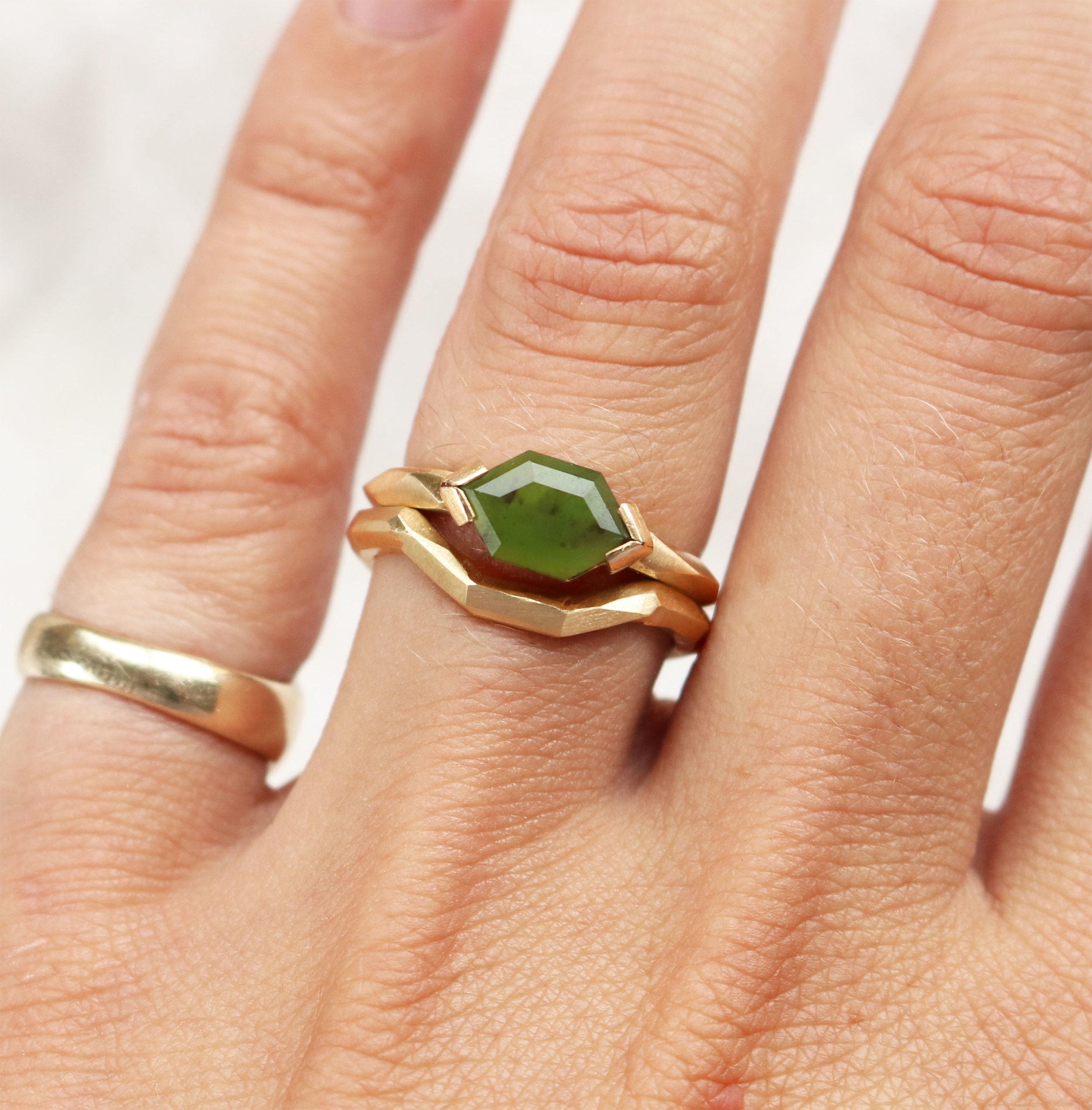 Pounamu Wedding Ring - Marama Jewellery