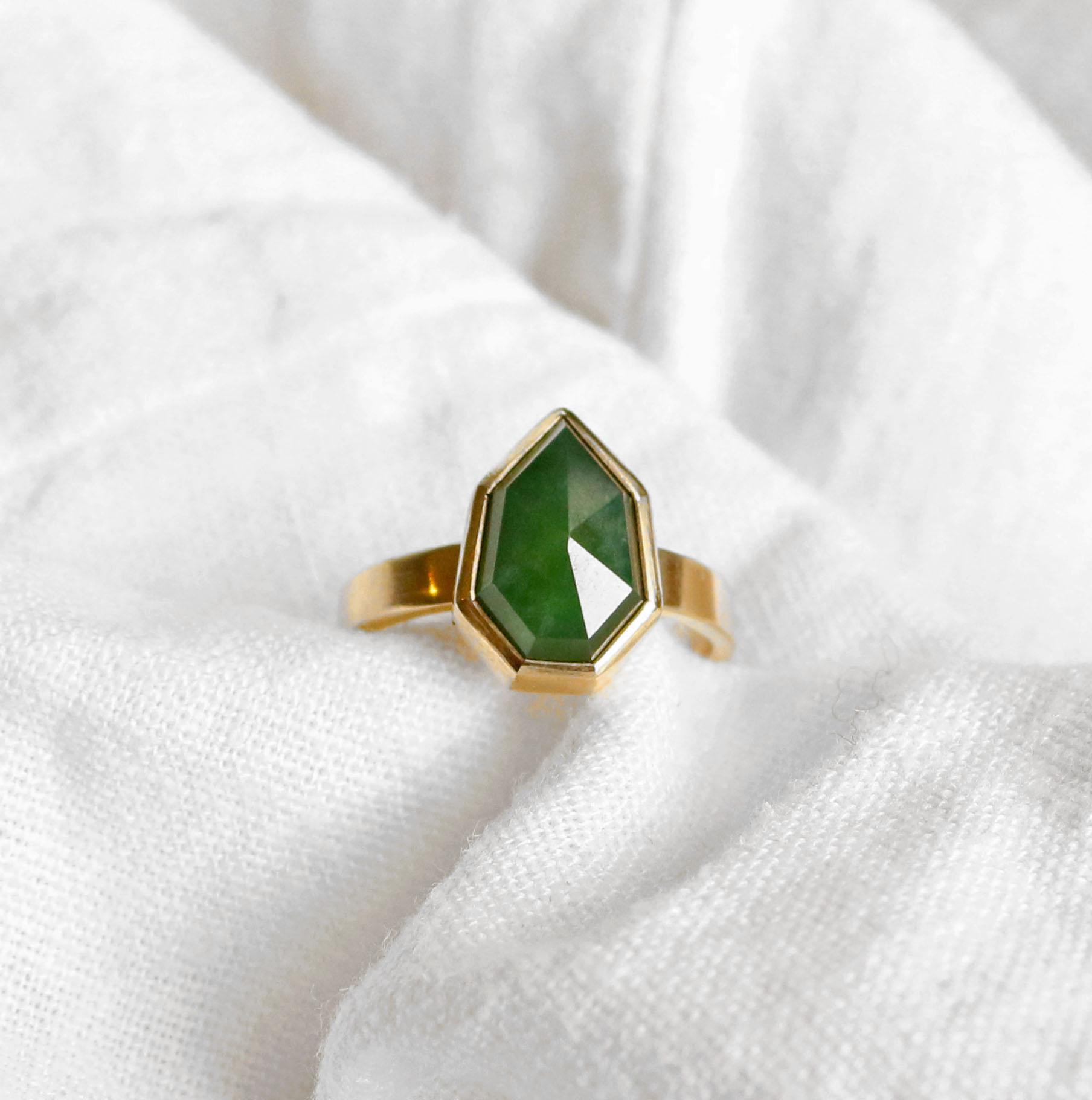 Pounamu Ring by Courtney Marama Jewellery