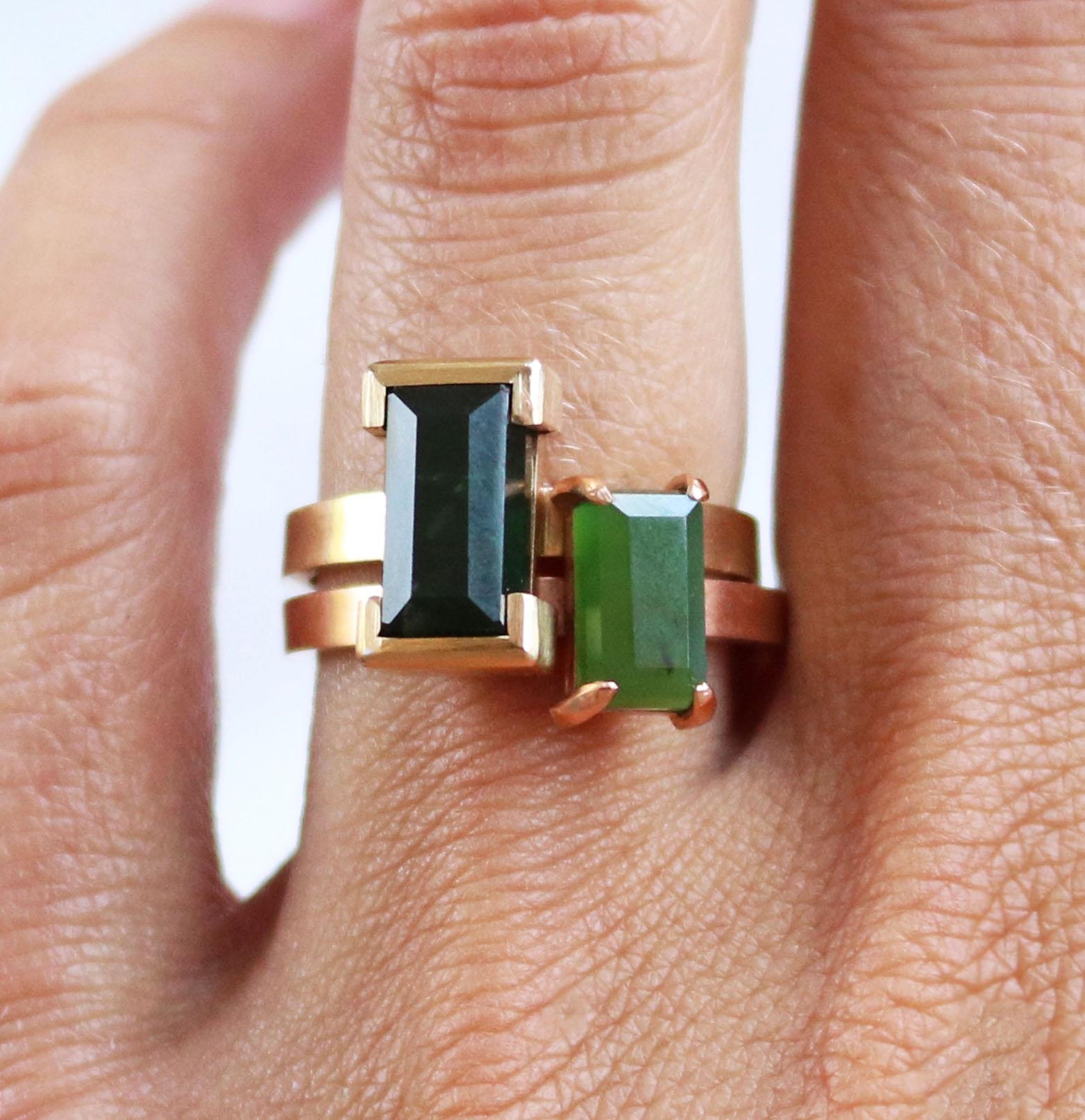 Pounamu Greenstone Rings by Courtney Marama Jewellery