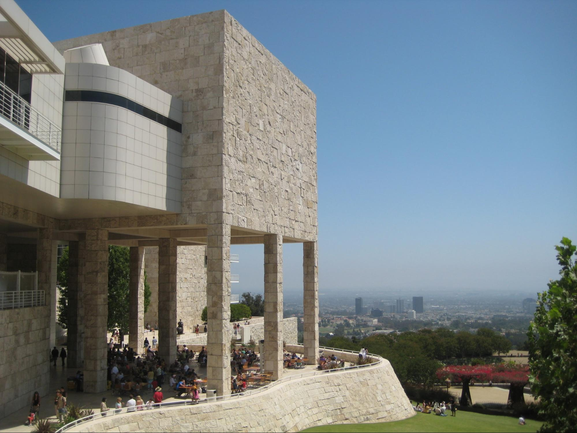If you're willing to pay for parking, you can work for free at  The Getty  in Los Angeles, California. Photo courtesy  Ricardo Diaz .