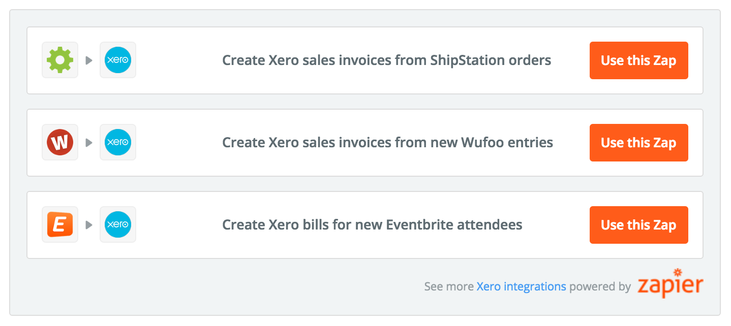 Use Zapier to set triggers or actions for Xero invoices and bills.