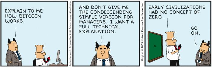 """  Explain to me how Bitcoin works.  ""  @JackGavigan"