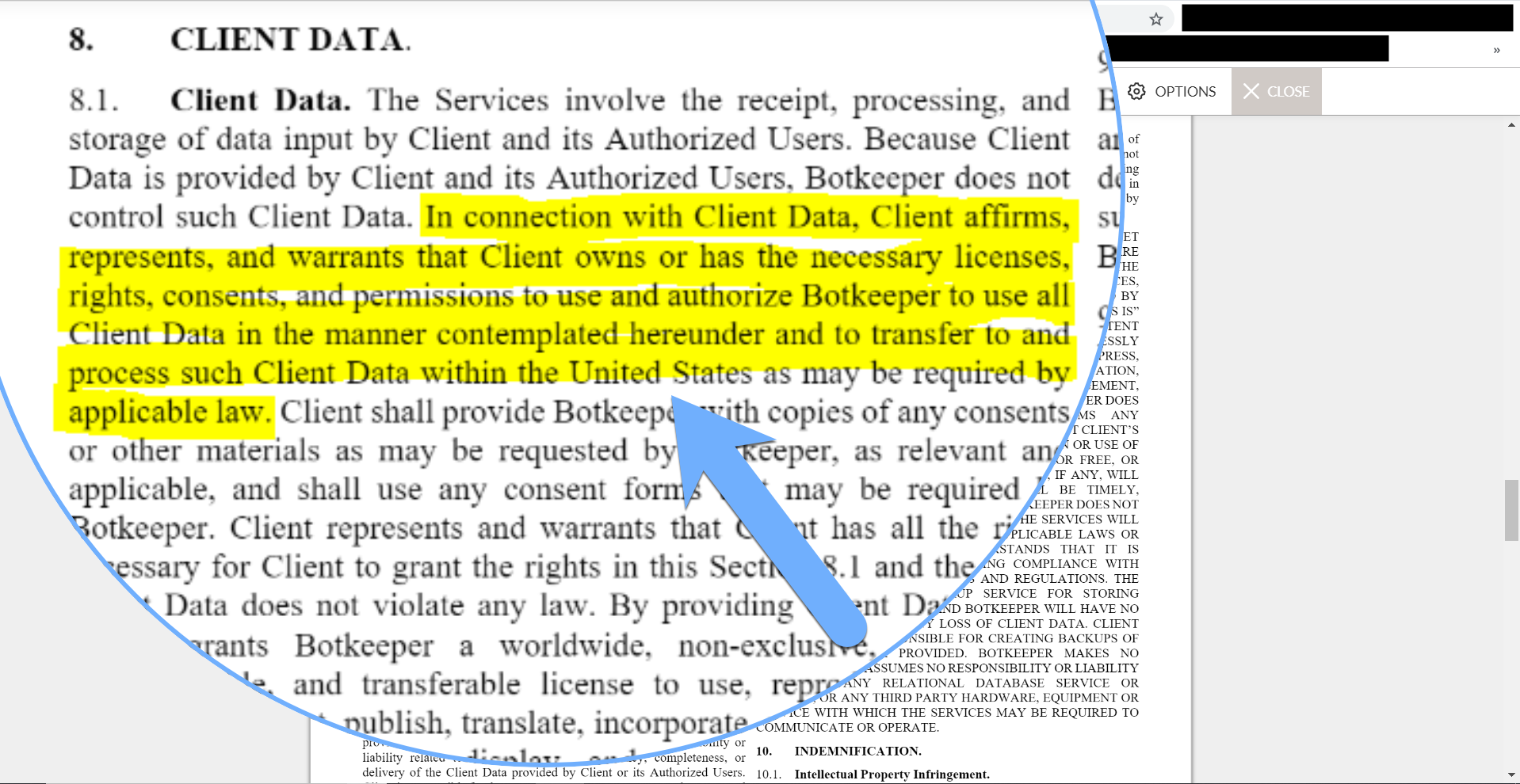 Screenshot of a purported Botkeeper accounting partner agreement