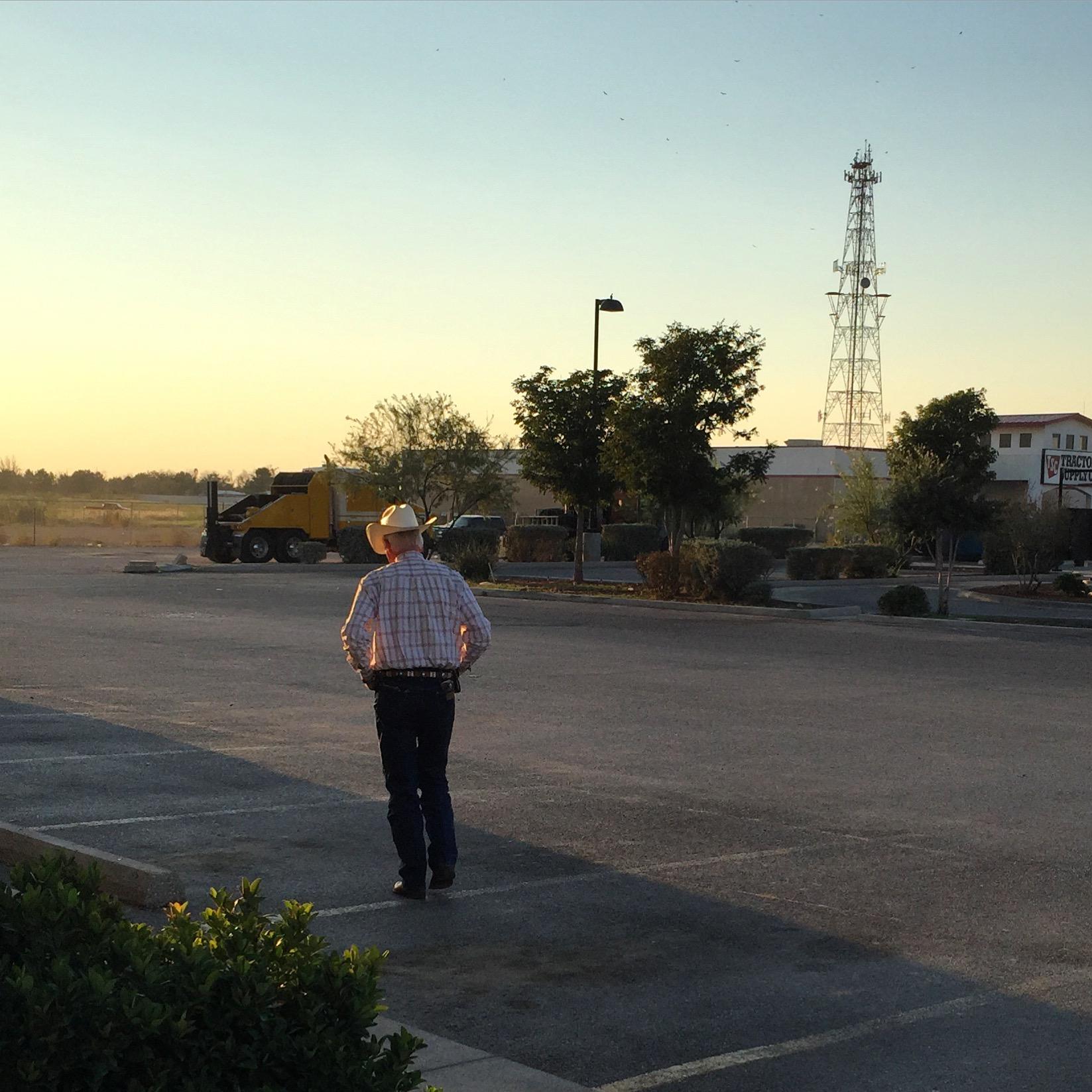 Midland, TX. September, 2015. A lone cowboy walking into the sunset...  #Midland    #texas    #tallcity  #SnapshotLives