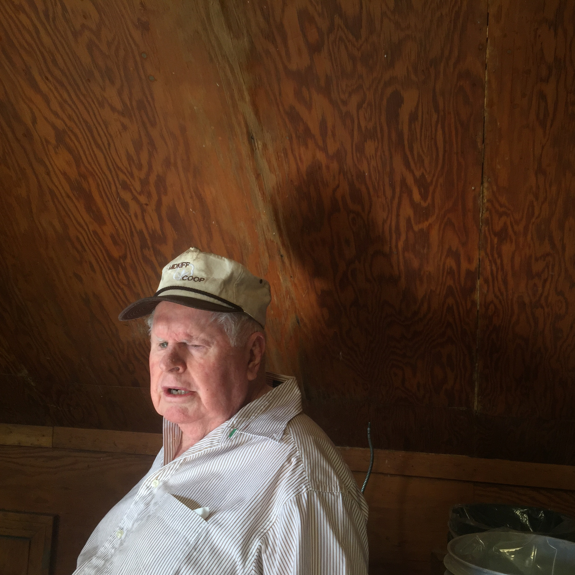 """December, 2015. Midland, TX. Don Edwards, 80. Mr. Edwards is completely blind. He lost his eyesight at age 19 when he was working maintenance in the oil field, setting a cattle guard, and a defective stick of dynamite blew up in his face. He could have lost his life. After gis accident he contacted the Texas Commission for the Blind and the only job they offered him was that of a mop maker. """"I guess they thought that's all a blind man could do, make mops,"""" he said with a chuckle. So he did that for ten years, then went into the real state business and now is retired and in his spare time cracks pecans for the loyal customers he has. He and his wife Shirley have been married 40 years. He has never seen her or his four children.  #SnapshotLives    #midlandtx     Like"""