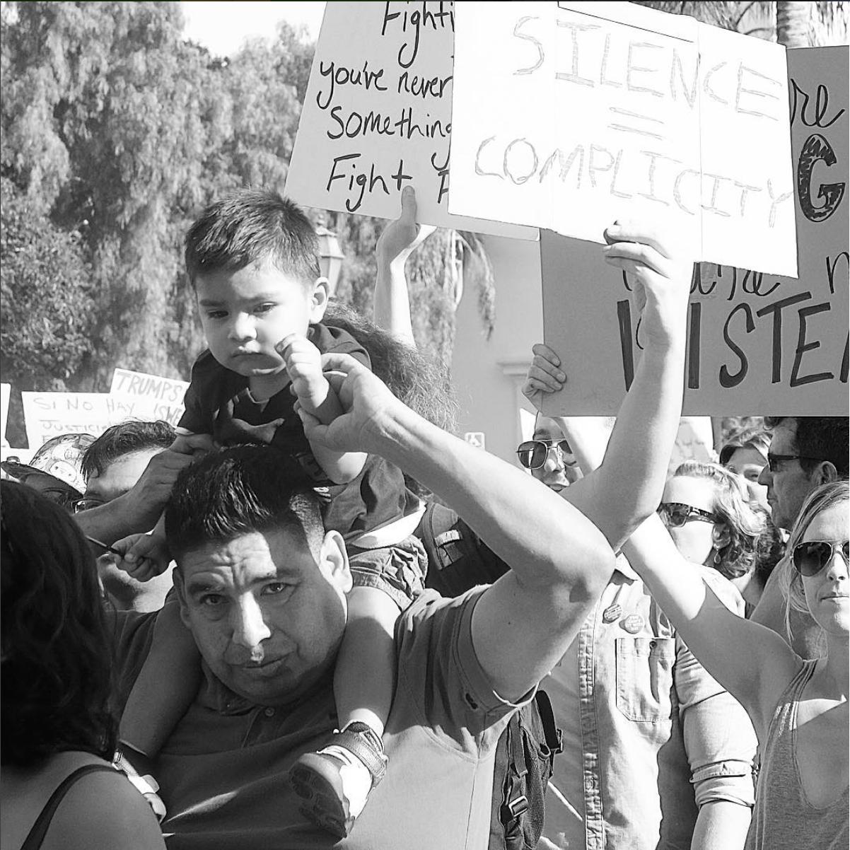Santa Barbara, CA. Protestors march in solidarity against Trump in downtown SB. #SnapshotLives  #fujixt1